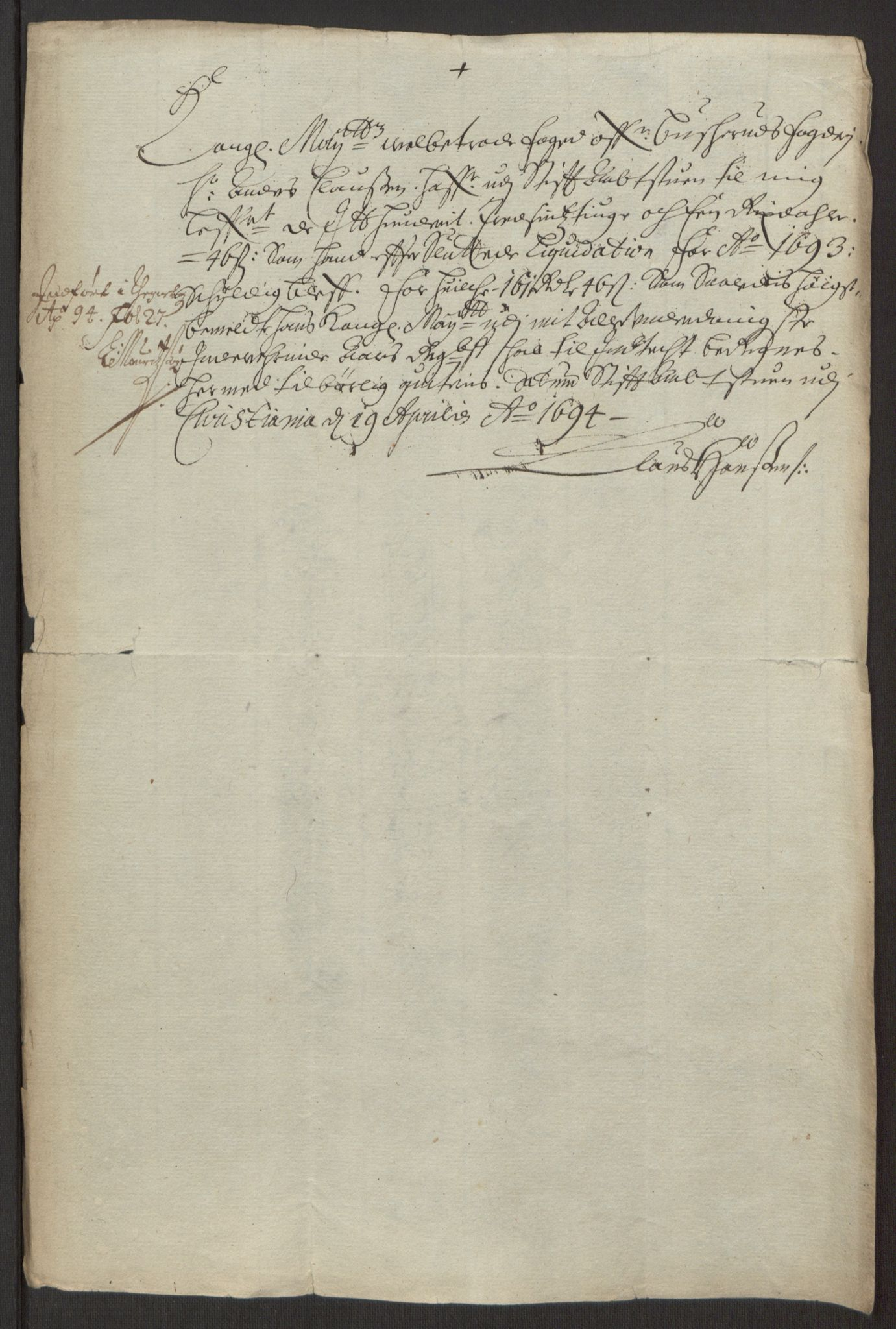 RA, Rentekammeret inntil 1814, Reviderte regnskaper, Fogderegnskap, R25/L1682: Fogderegnskap Buskerud, 1693, s. 239