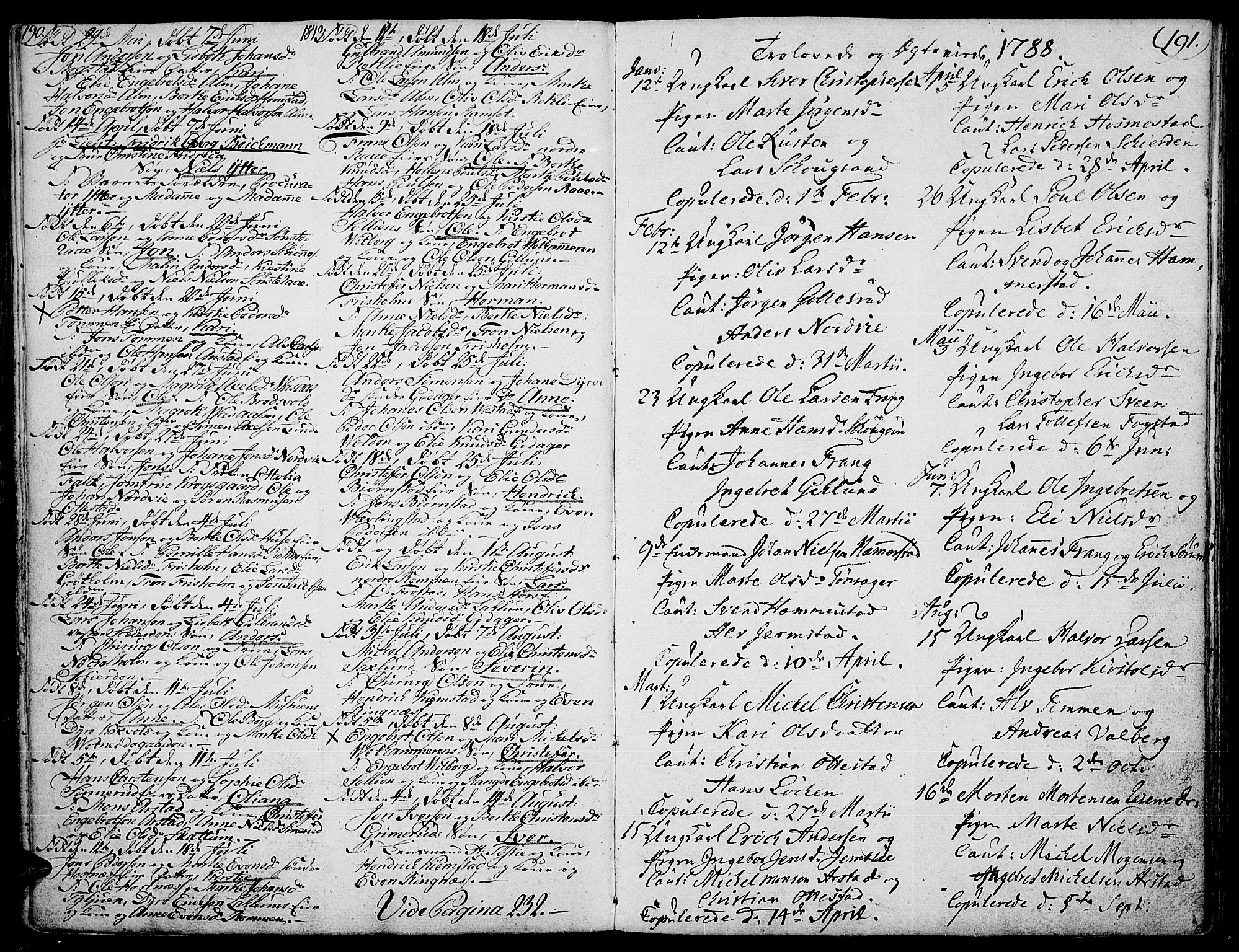 SAH, Stange prestekontor, K/L0007: Ministerialbok nr. 7, 1788-1813, s. 190-191