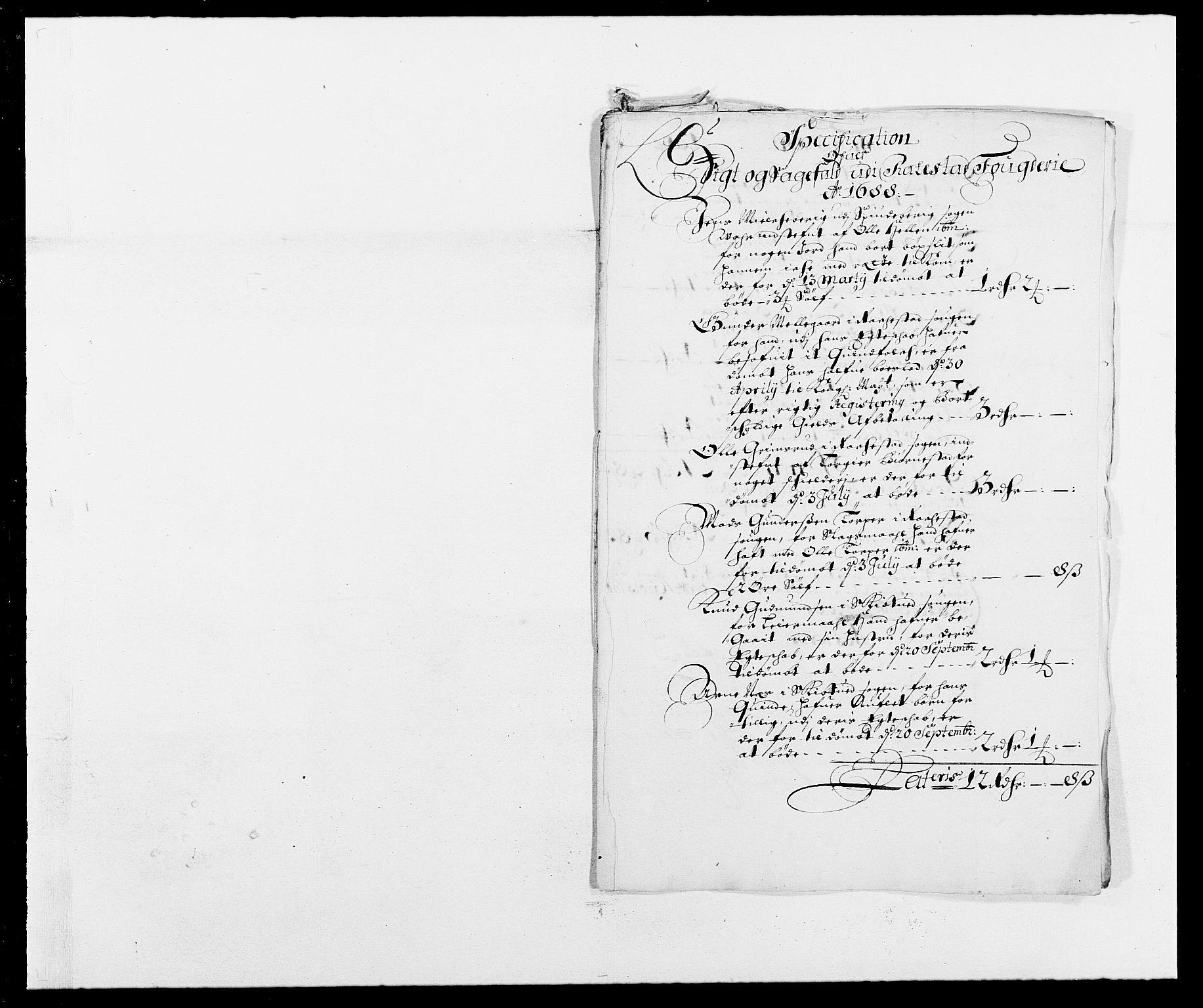 RA, Rentekammeret inntil 1814, Reviderte regnskaper, Fogderegnskap, R05/L0276: Fogderegnskap Rakkestad, 1683-1688, s. 139