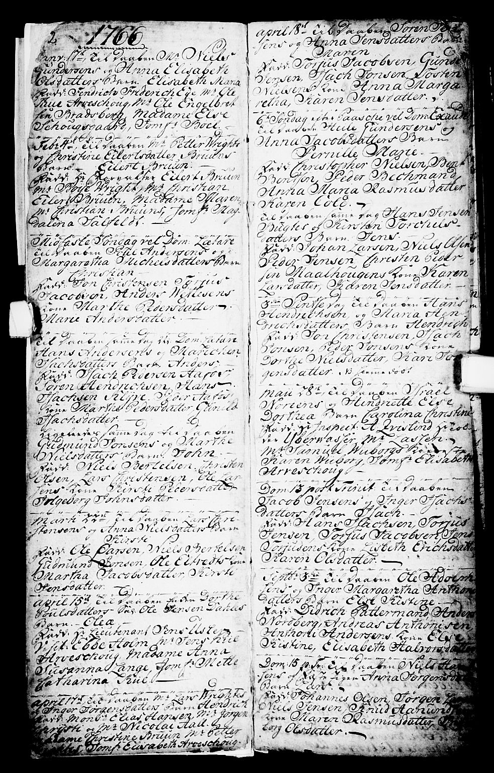SAKO, Porsgrunn kirkebøker , G/Ga/L0001: Klokkerbok nr. I 1, 1766-1790, s. 2-3