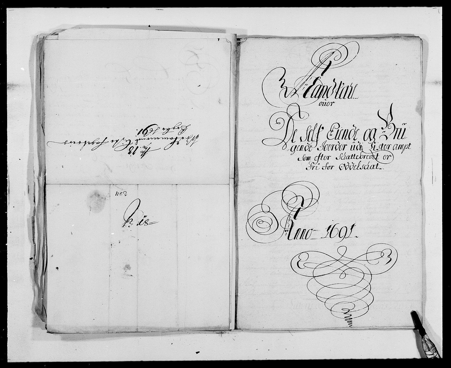 RA, Rentekammeret inntil 1814, Reviderte regnskaper, Fogderegnskap, R41/L2536: Fogderegnskap Lista, 1690-1693, s. 177