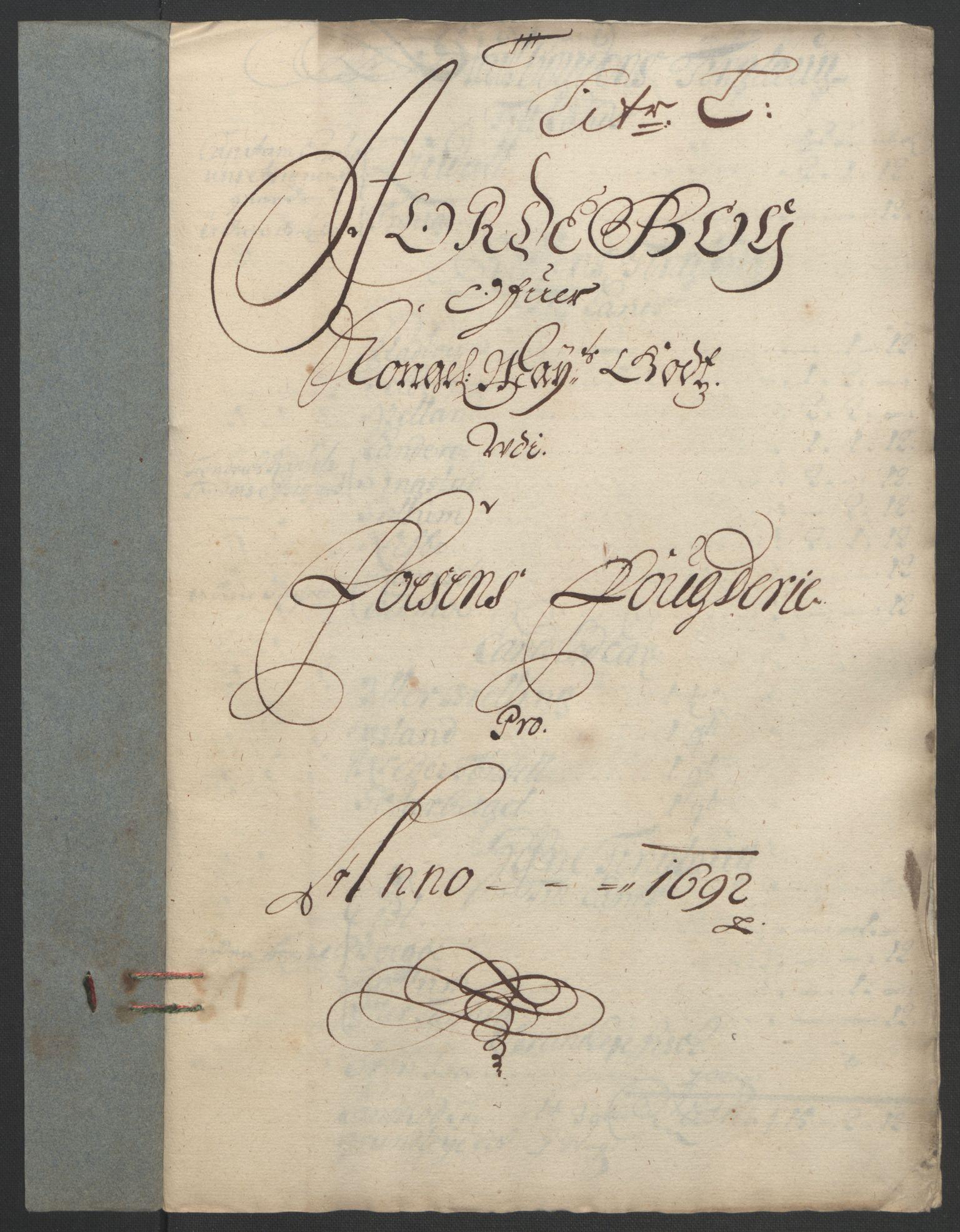 RA, Rentekammeret inntil 1814, Reviderte regnskaper, Fogderegnskap, R57/L3849: Fogderegnskap Fosen, 1692-1693, s. 180