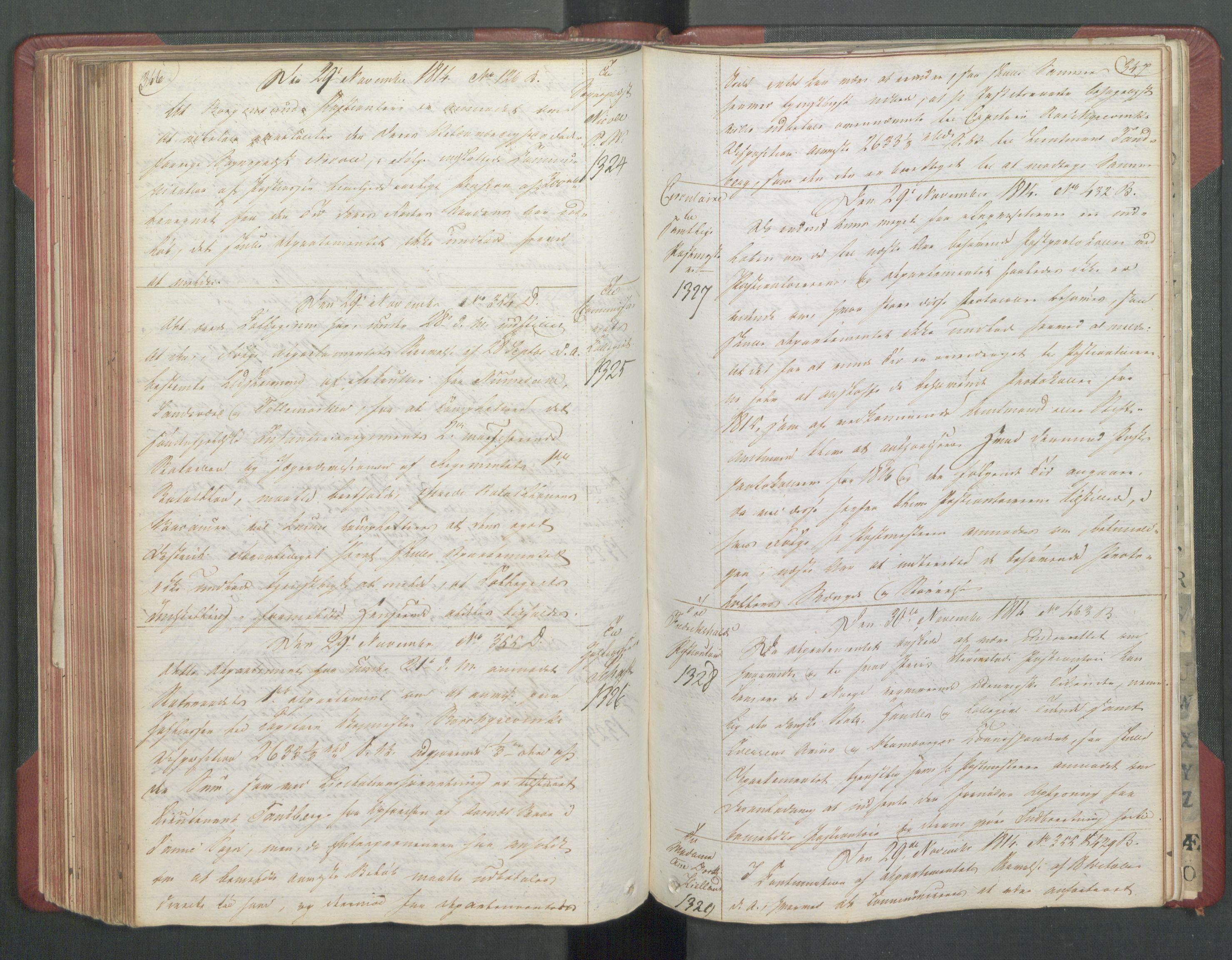 RA, Departementene i 1814, Fb/L0028: Kopibok 1-1371, 1814, s. 346-347