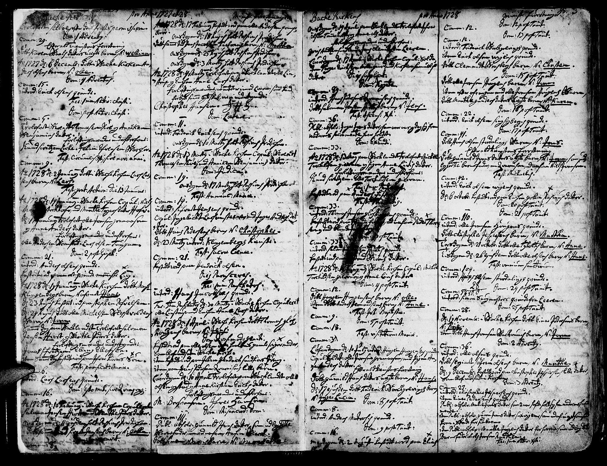 SAT, Ministerialprotokoller, klokkerbøker og fødselsregistre - Sør-Trøndelag, 606/L0276: Ministerialbok nr. 606A01 /2, 1727-1779, s. 2-3