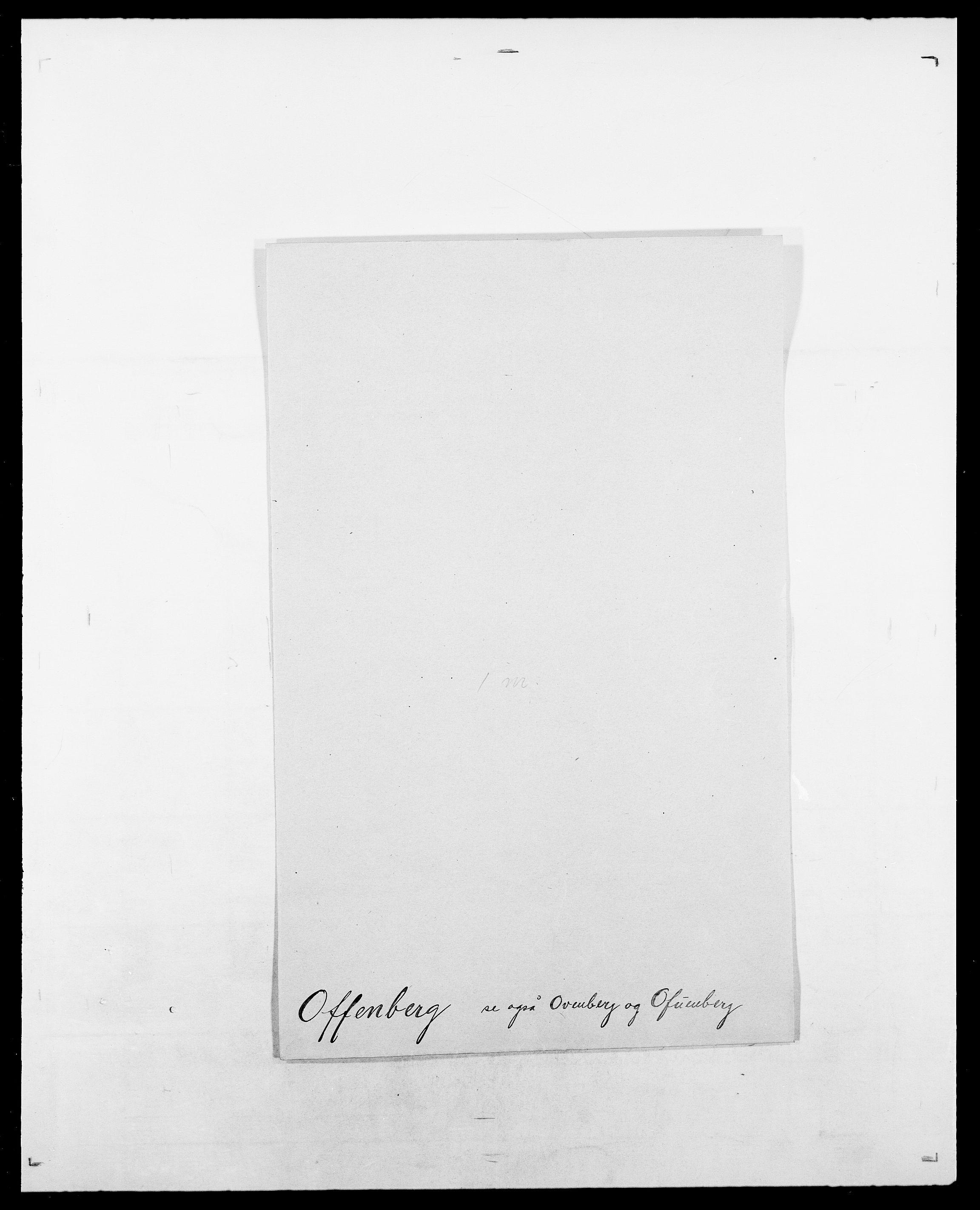 SAO, Delgobe, Charles Antoine - samling, D/Da/L0029: Obel - Oxholm, s. 40