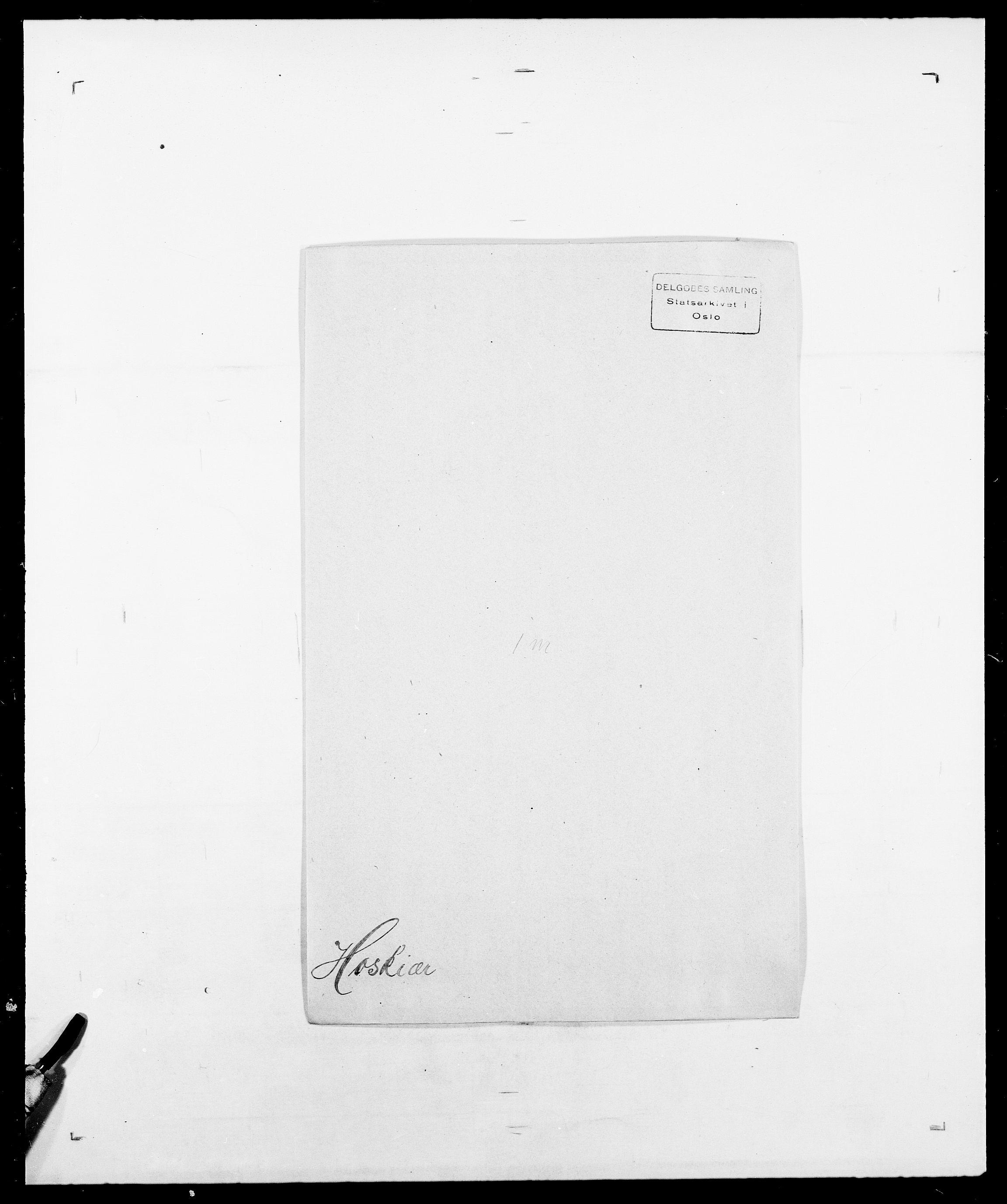 SAO, Delgobe, Charles Antoine - samling, D/Da/L0018: Hoch - Howert, s. 1000