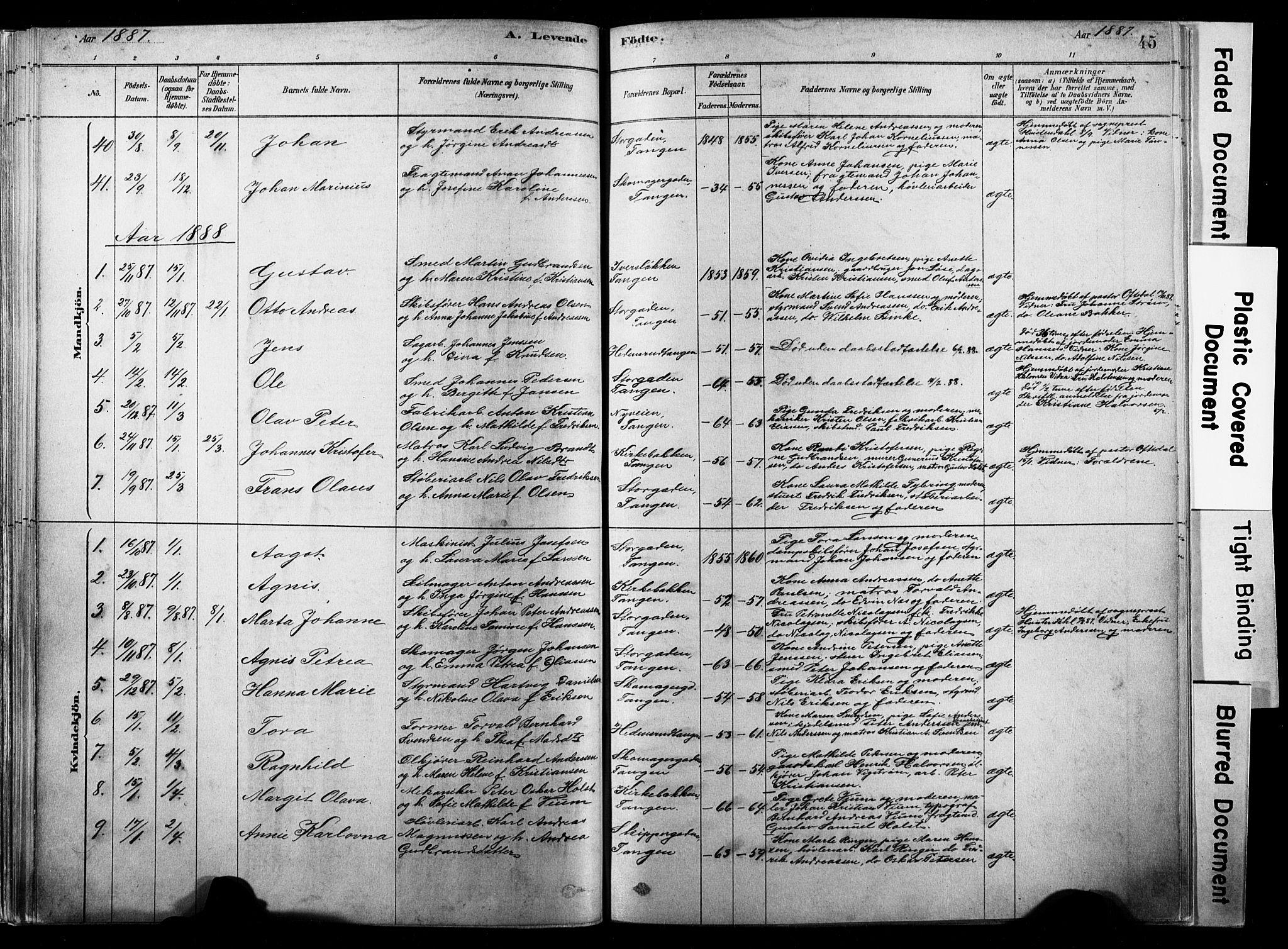 SAKO, Strømsø kirkebøker, F/Fb/L0006: Ministerialbok nr. II 6, 1879-1910, s. 45
