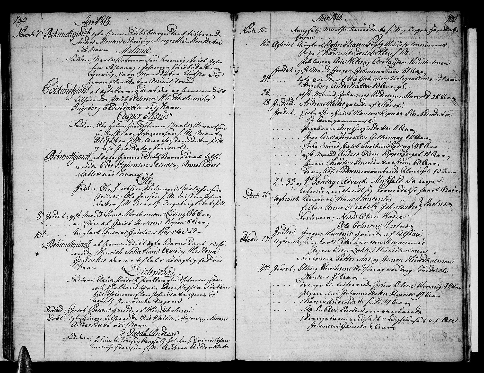 SAT, Ministerialprotokoller, klokkerbøker og fødselsregistre - Nordland, 801/L0004: Ministerialbok nr. 801A04, 1796-1817, s. 299-300