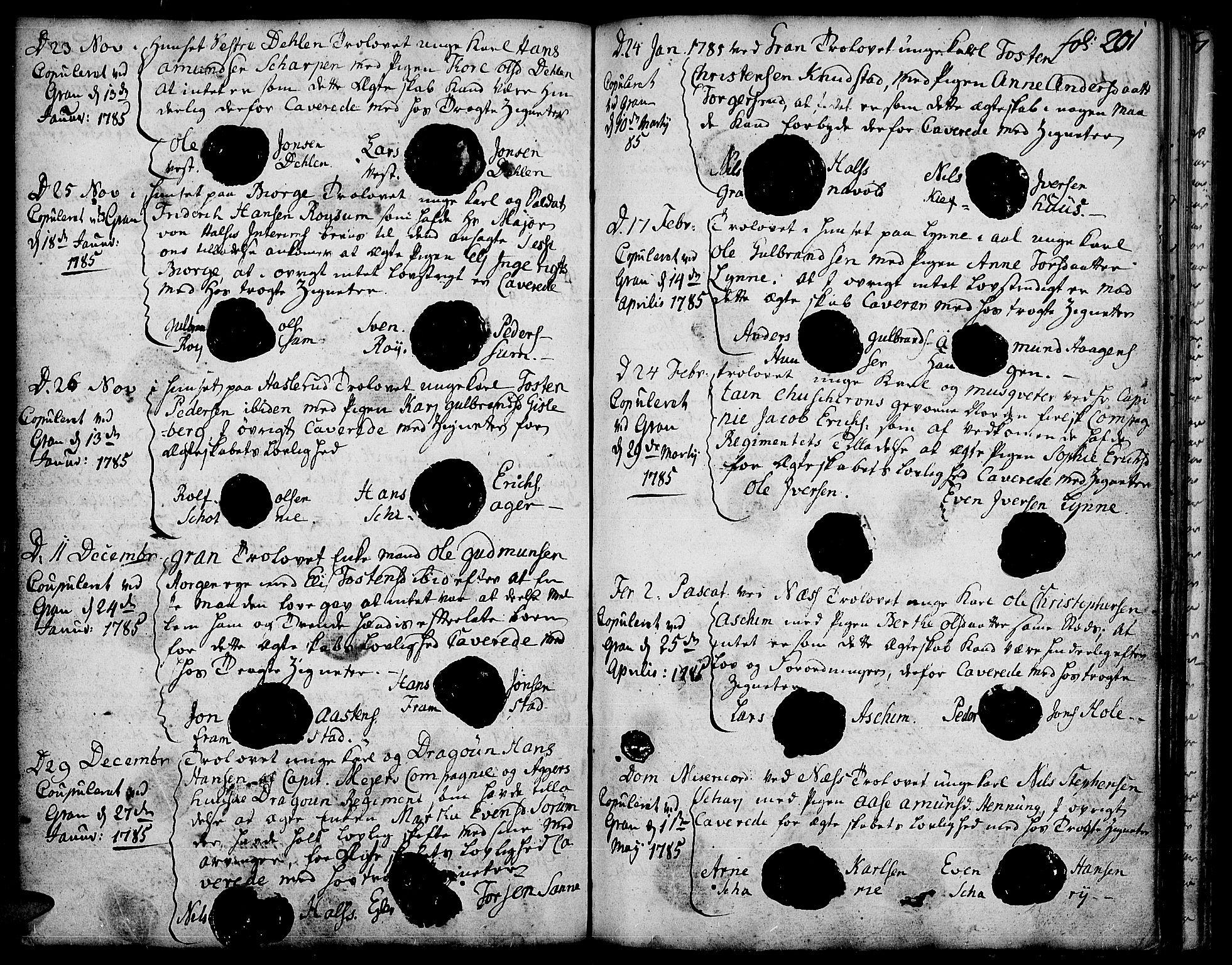 SAH, Gran prestekontor, Ministerialbok nr. 5, 1776-1788, s. 201