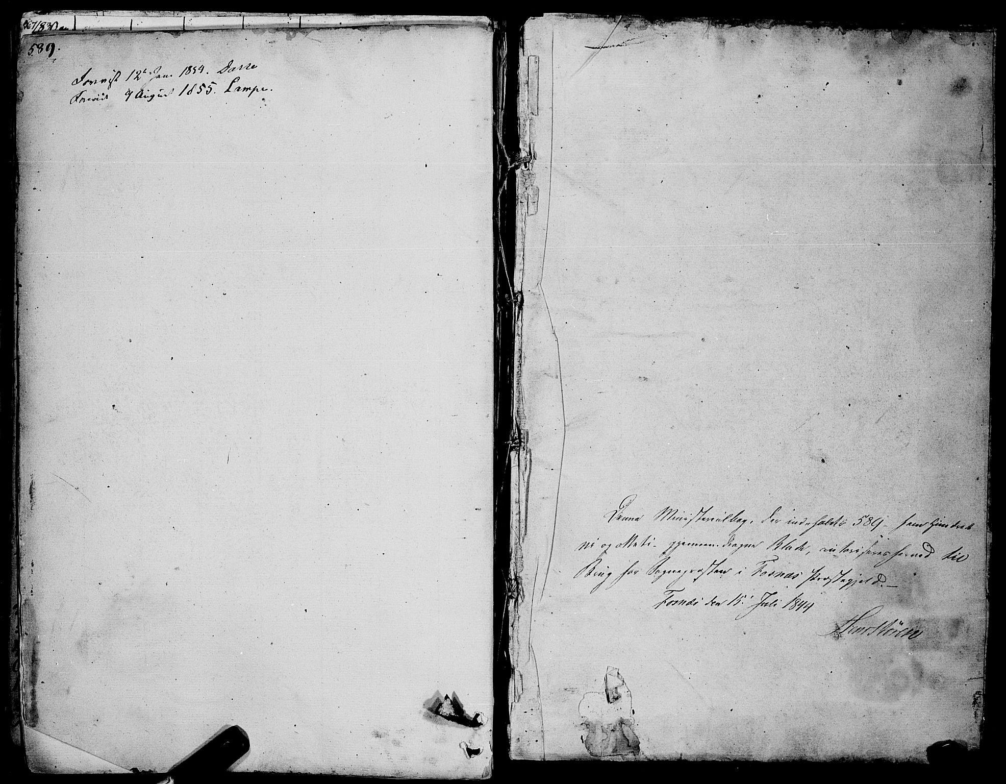 SAT, Ministerialprotokoller, klokkerbøker og fødselsregistre - Nord-Trøndelag, 773/L0614: Ministerialbok nr. 773A05, 1831-1856, s. 589