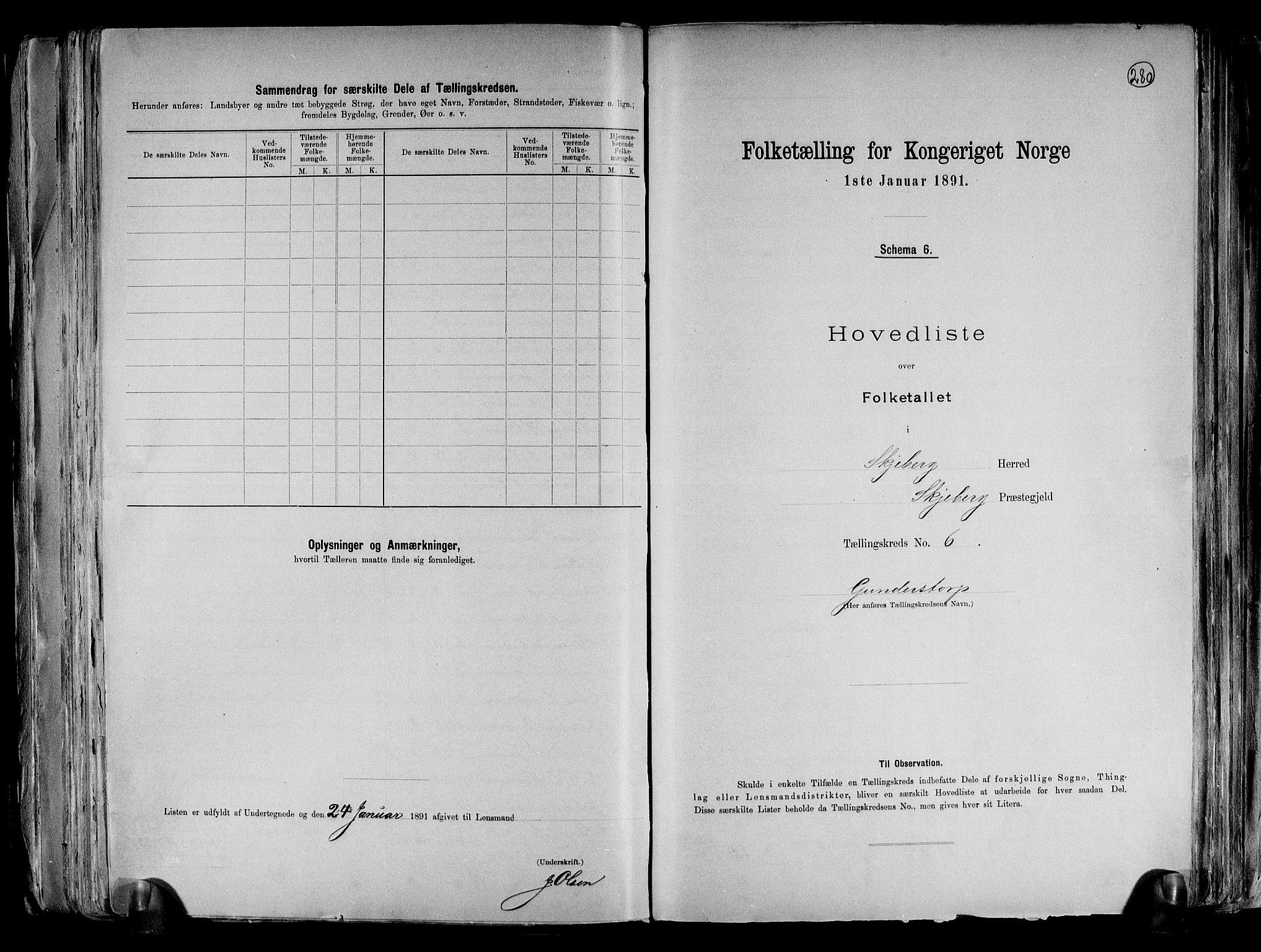 RA, Folketelling 1891 for 0115 Skjeberg herred, 1891, s. 16