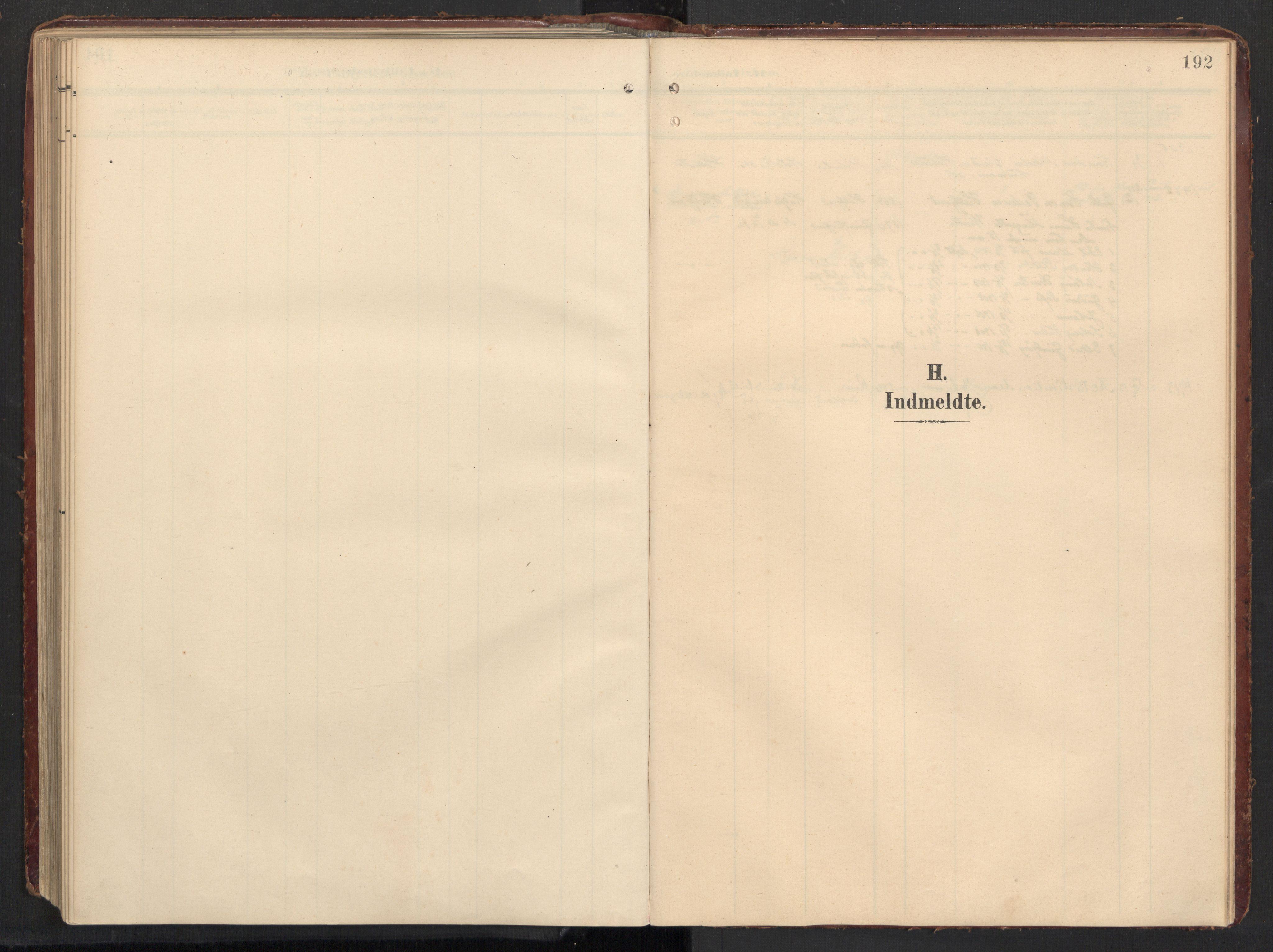 SAT, Ministerialprotokoller, klokkerbøker og fødselsregistre - Nordland, 890/L1287: Ministerialbok nr. 890A02, 1903-1915, s. 192