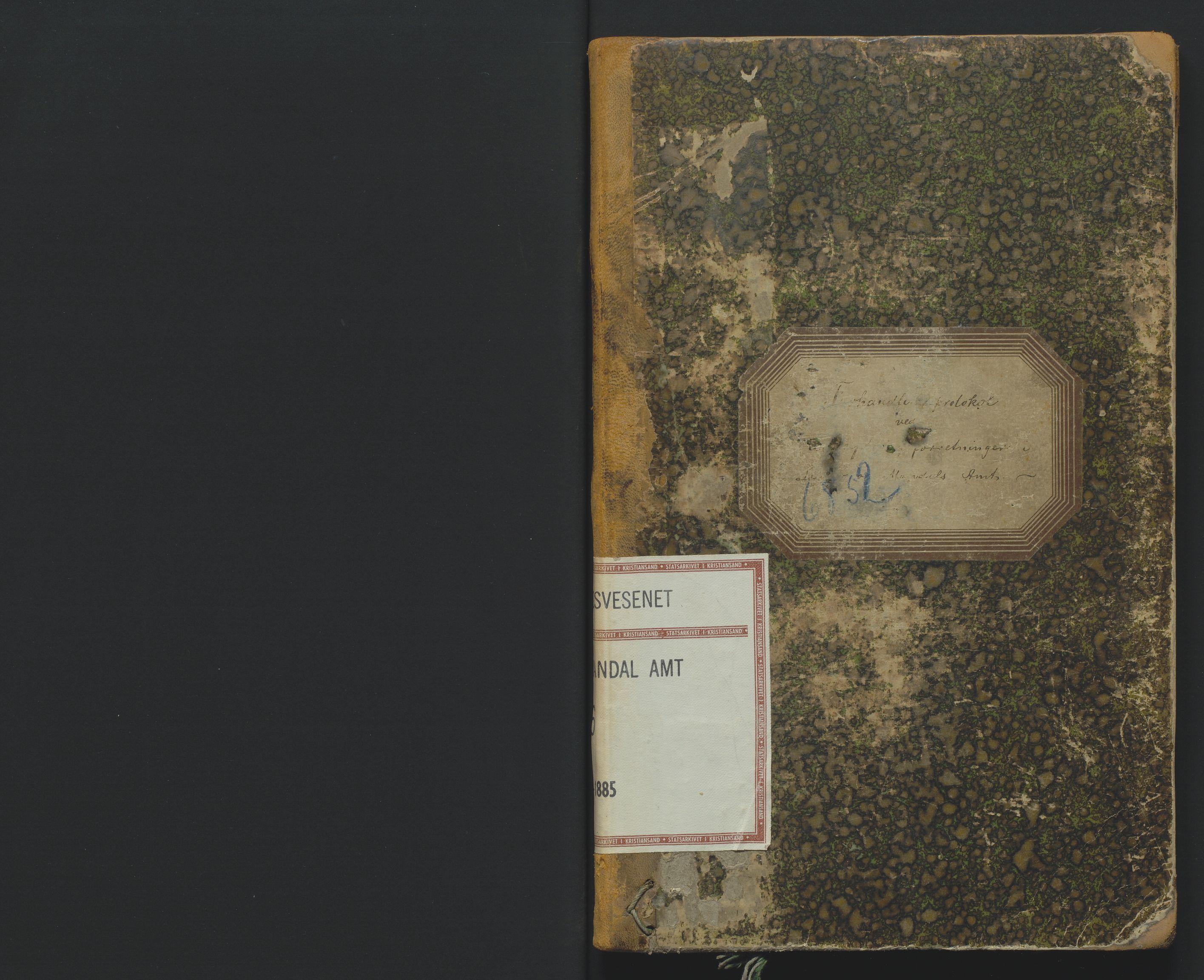 SAK, Utskiftningsformannen i Lister og Mandal amt, F/Fa/Faa/L0016: Utskiftningsprotokoll med register nr 16, 1883-1885