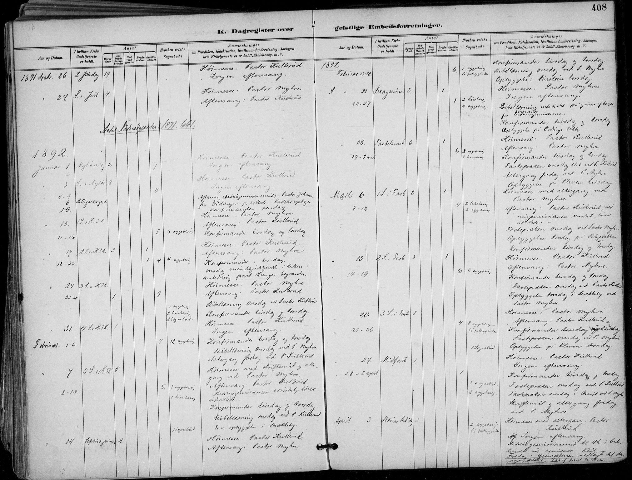 SAKO, Skien kirkebøker, F/Fa/L0010: Ministerialbok nr. 10, 1891-1899, s. 408
