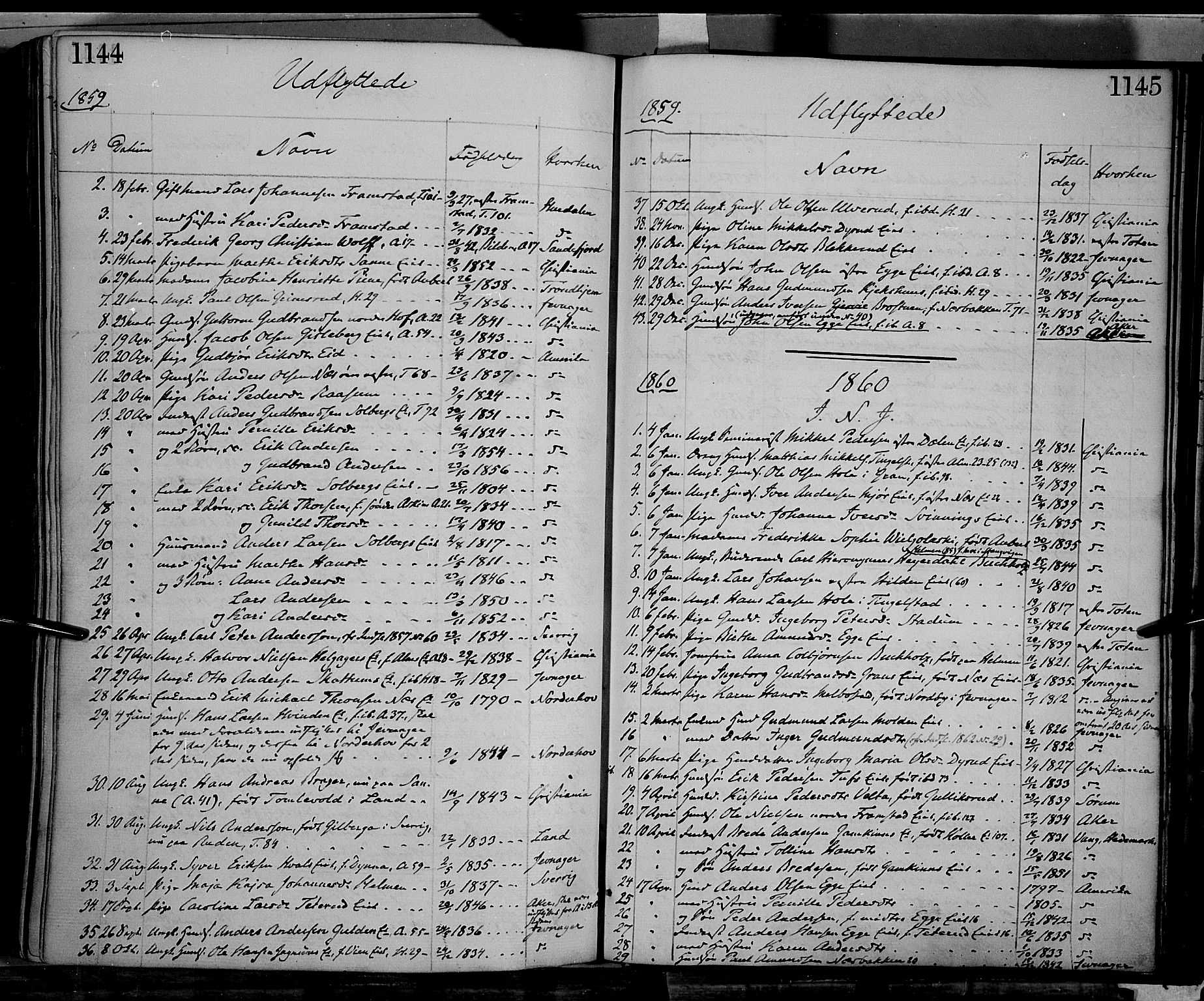 SAH, Gran prestekontor, Ministerialbok nr. 12, 1856-1874, s. 1144-1145