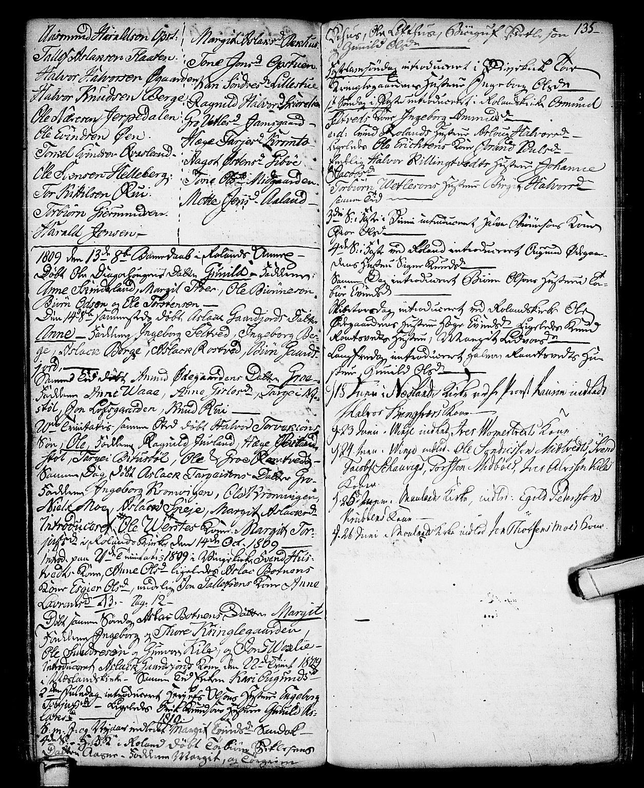 SAKO, Vinje kirkebøker, F/Fa/L0002: Ministerialbok nr. I 2, 1767-1814, s. 135