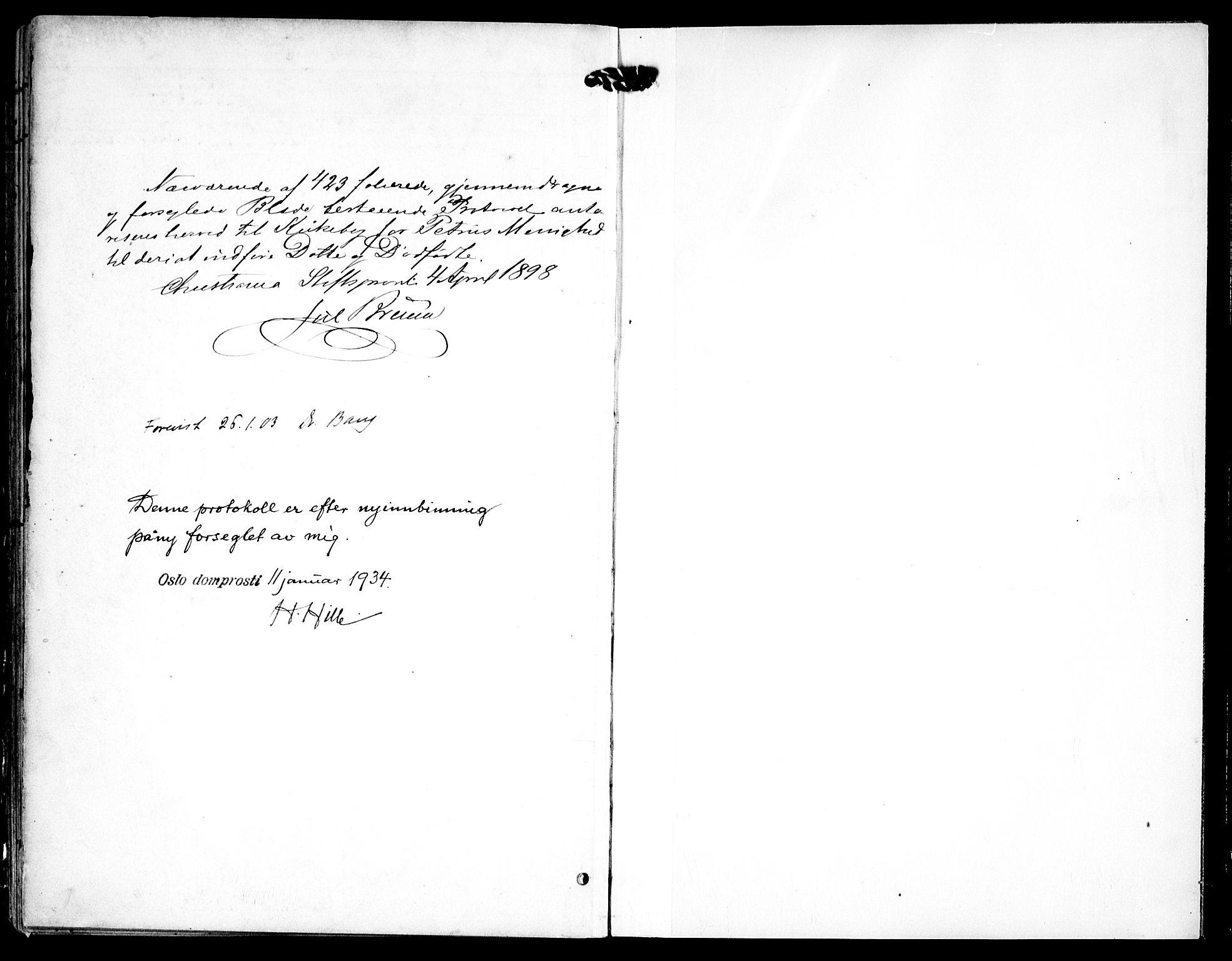 SAO, Petrus prestekontor Kirkebøker, F/Fa/L0008: Ministerialbok nr. 8, 1899-1909