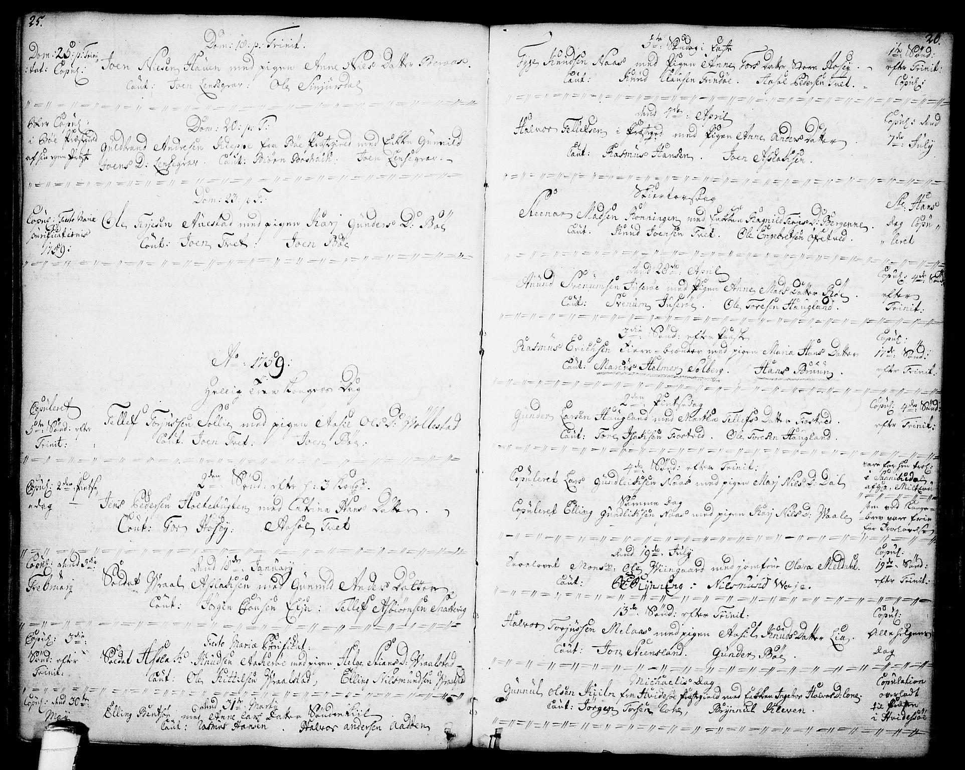 SAKO, Drangedal kirkebøker, F/Fa/L0001: Ministerialbok nr. 1, 1697-1767, s. 25-26