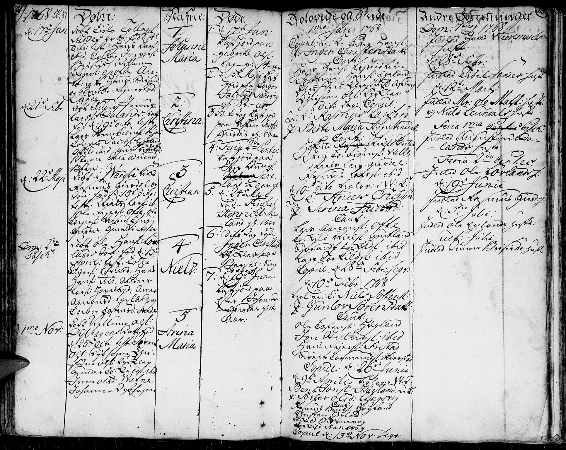 SAK, Herad sokneprestkontor, F/Fa/Faa/L0001: Ministerialbok nr. A 1 /1, 1768-1799, s. 211-212