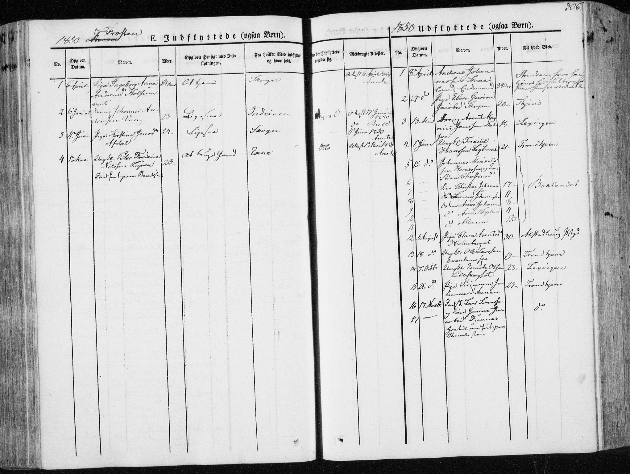 SAT, Ministerialprotokoller, klokkerbøker og fødselsregistre - Nord-Trøndelag, 713/L0115: Ministerialbok nr. 713A06, 1838-1851, s. 306