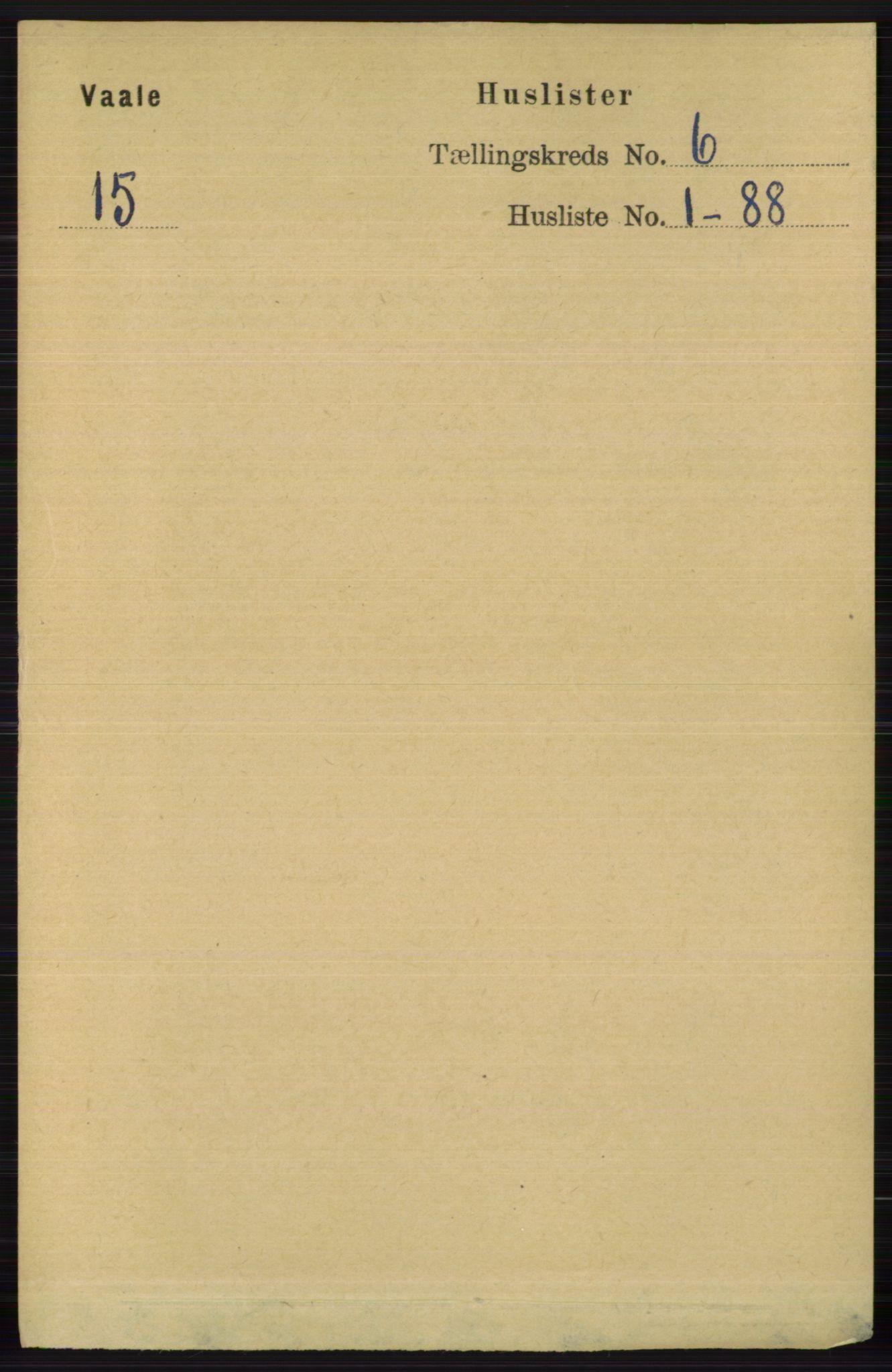 RA, Folketelling 1891 for 0716 Våle herred, 1891, s. 1686