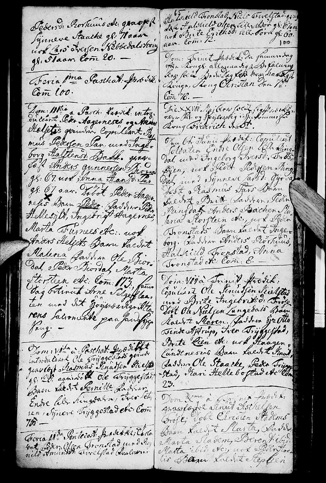SAT, Ministerialprotokoller, klokkerbøker og fødselsregistre - Møre og Romsdal, 519/L0243: Ministerialbok nr. 519A02, 1760-1770, s. 99-100
