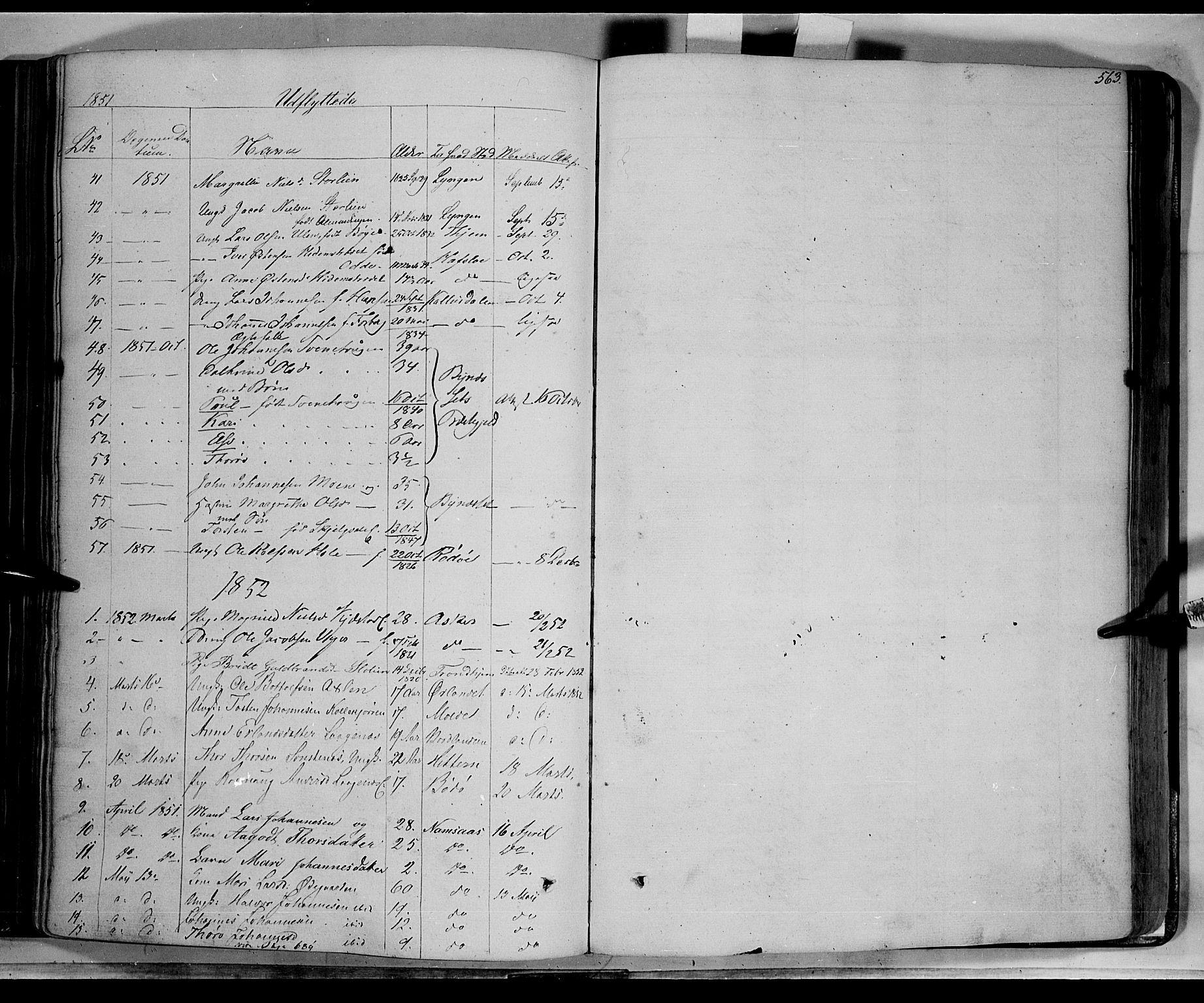 SAH, Lom prestekontor, K/L0006: Ministerialbok nr. 6B, 1837-1863, s. 563