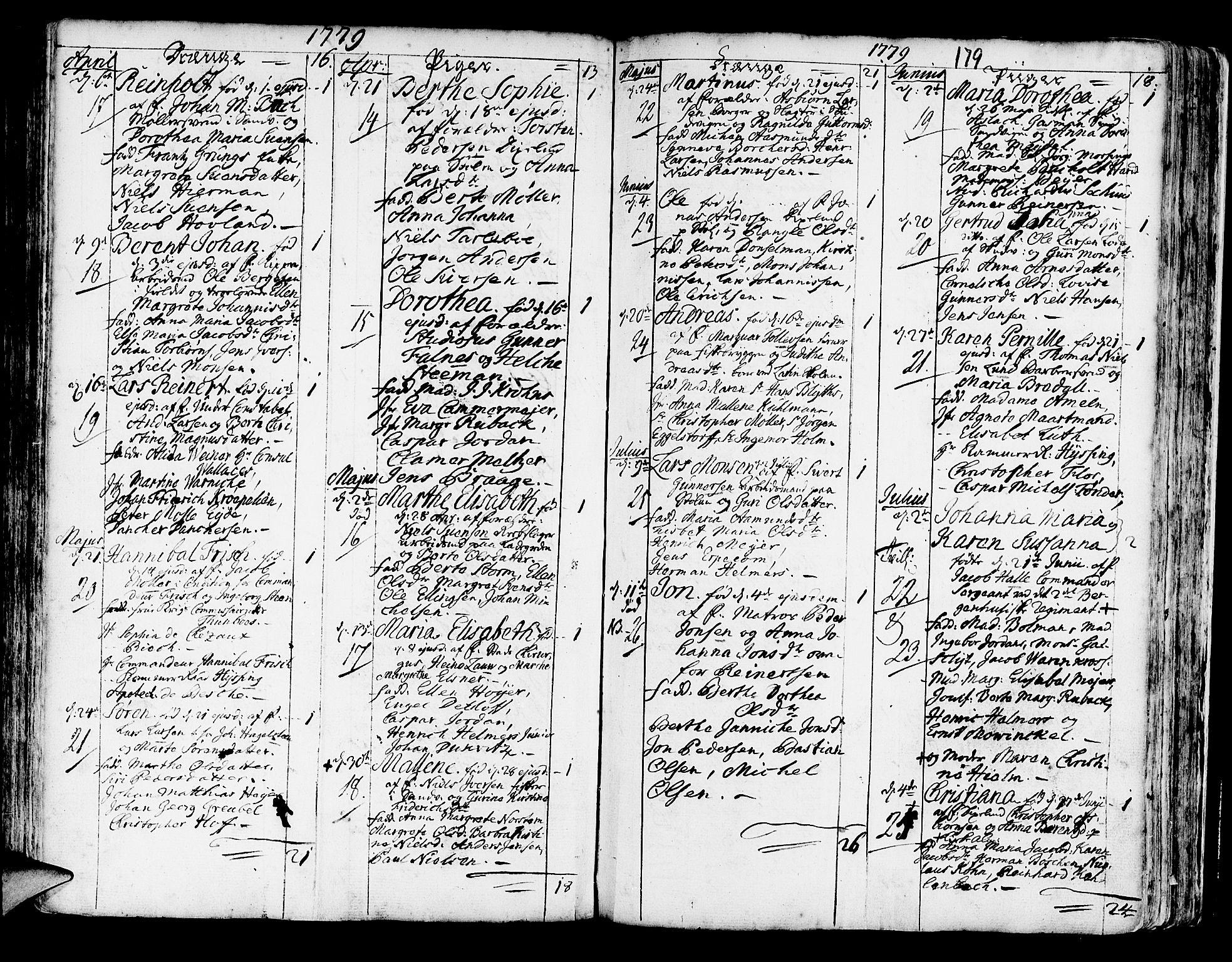 SAB, Korskirken Sokneprestembete, H/Haa/L0005: Ministerialbok nr. A 5, 1751-1789, s. 179