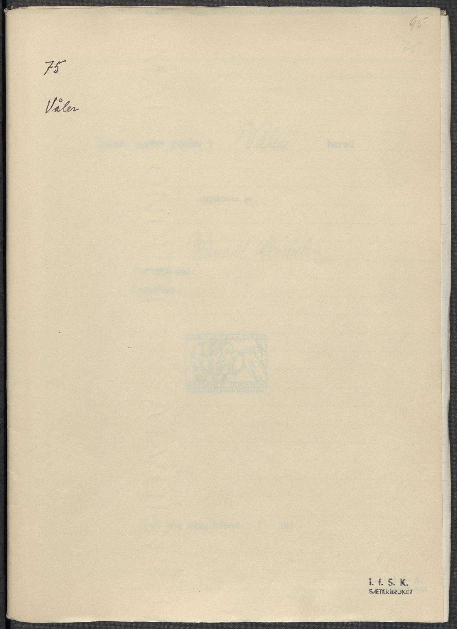 RA, Instituttet for sammenlignende kulturforskning, F/Fc/L0003: Eske B3:, 1934-1935, s. 95