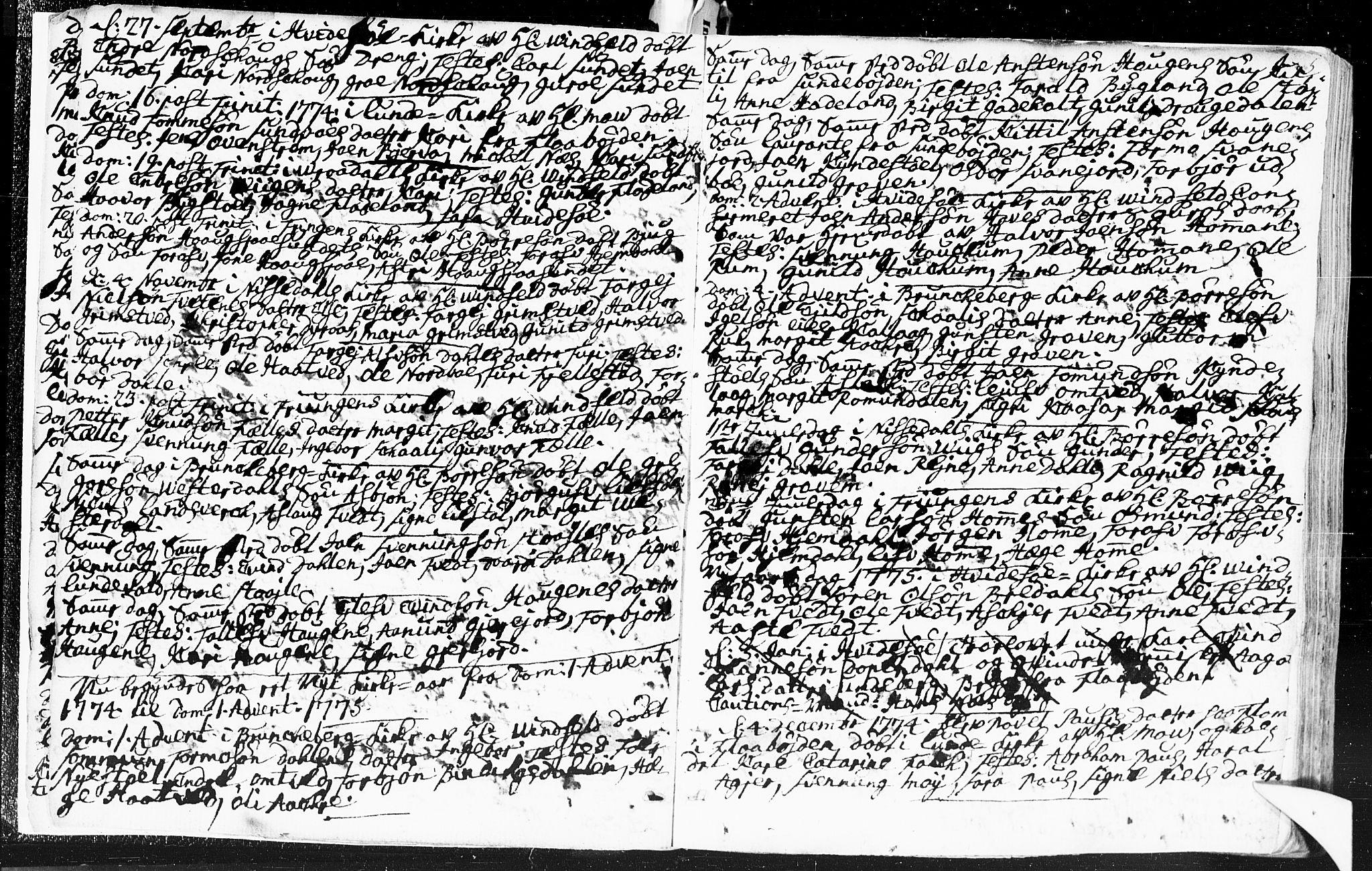 SAKO, Kviteseid kirkebøker, F/Fa/L0002: Ministerialbok nr. I 2, 1773-1786, s. 5