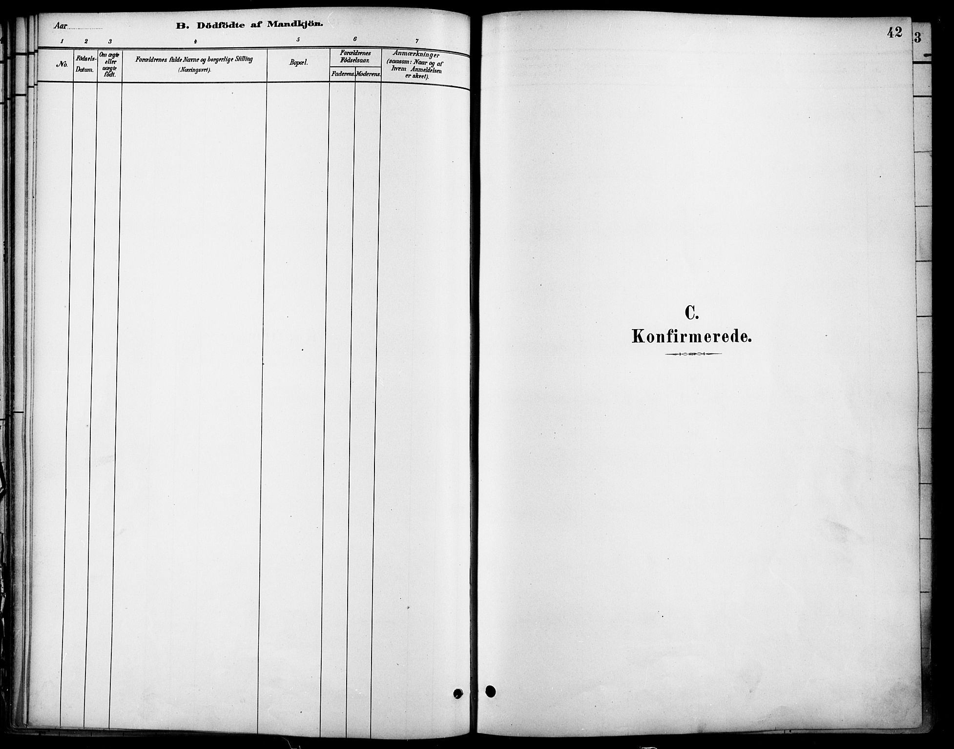 SAO, Nannestad prestekontor Kirkebøker, F/Fa/L0014: Ministerialbok nr. I 14, 1881-1890, s. 42