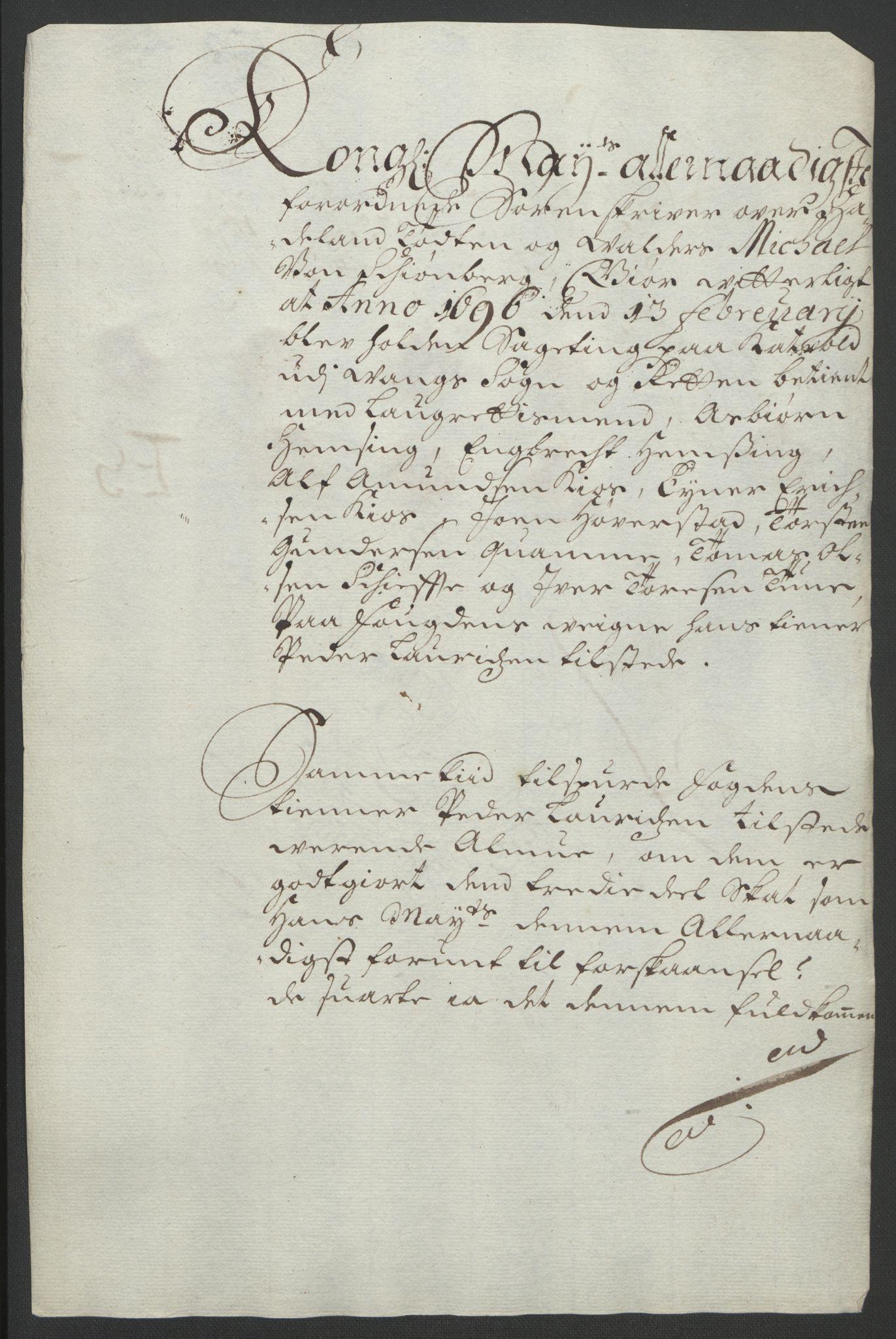 RA, Rentekammeret inntil 1814, Reviderte regnskaper, Fogderegnskap, R18/L1293: Fogderegnskap Hadeland, Toten og Valdres, 1695, s. 164