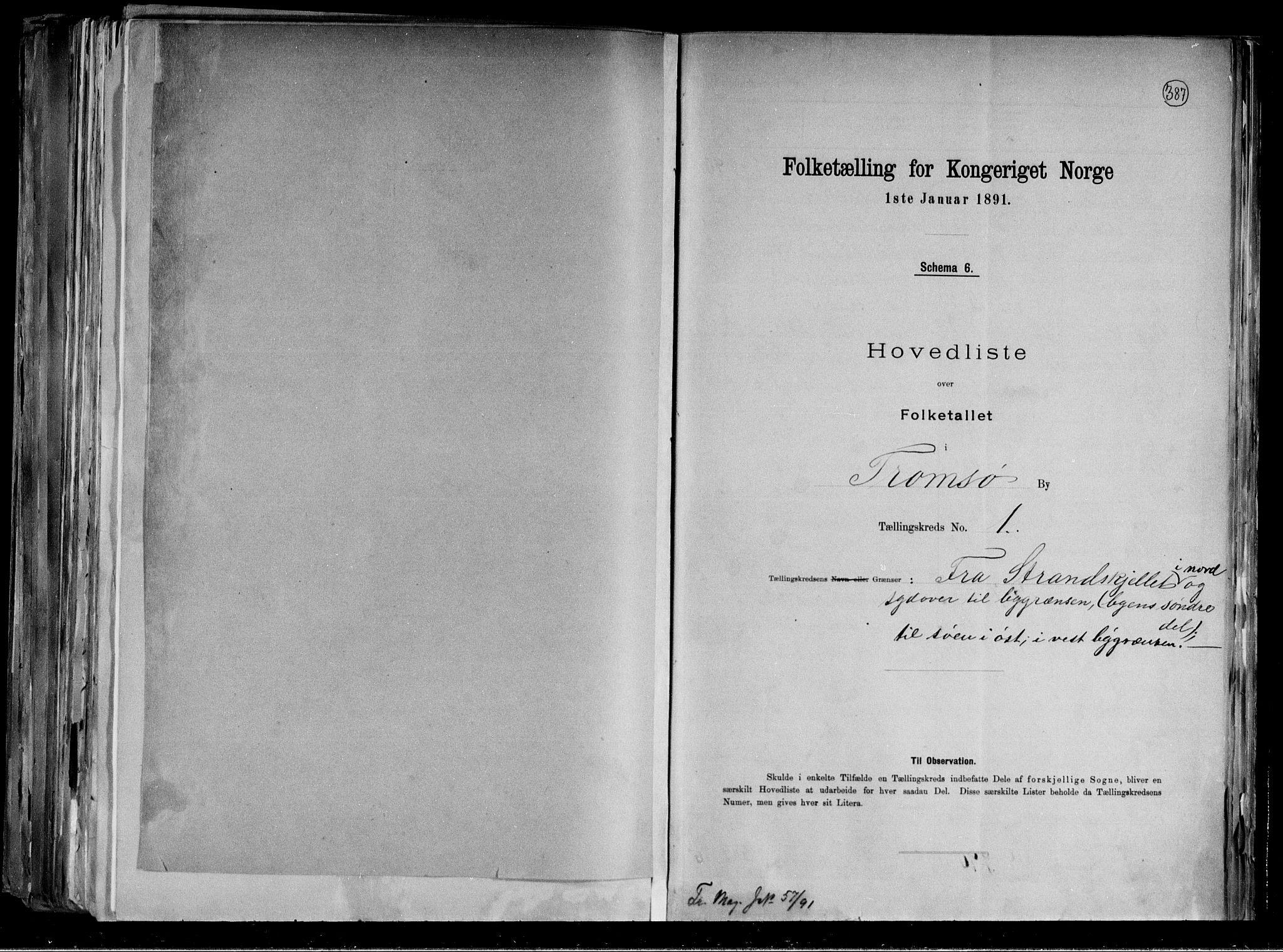 RA, Folketelling 1891 for 1902 Tromsø kjøpstad, 1891, s. 5