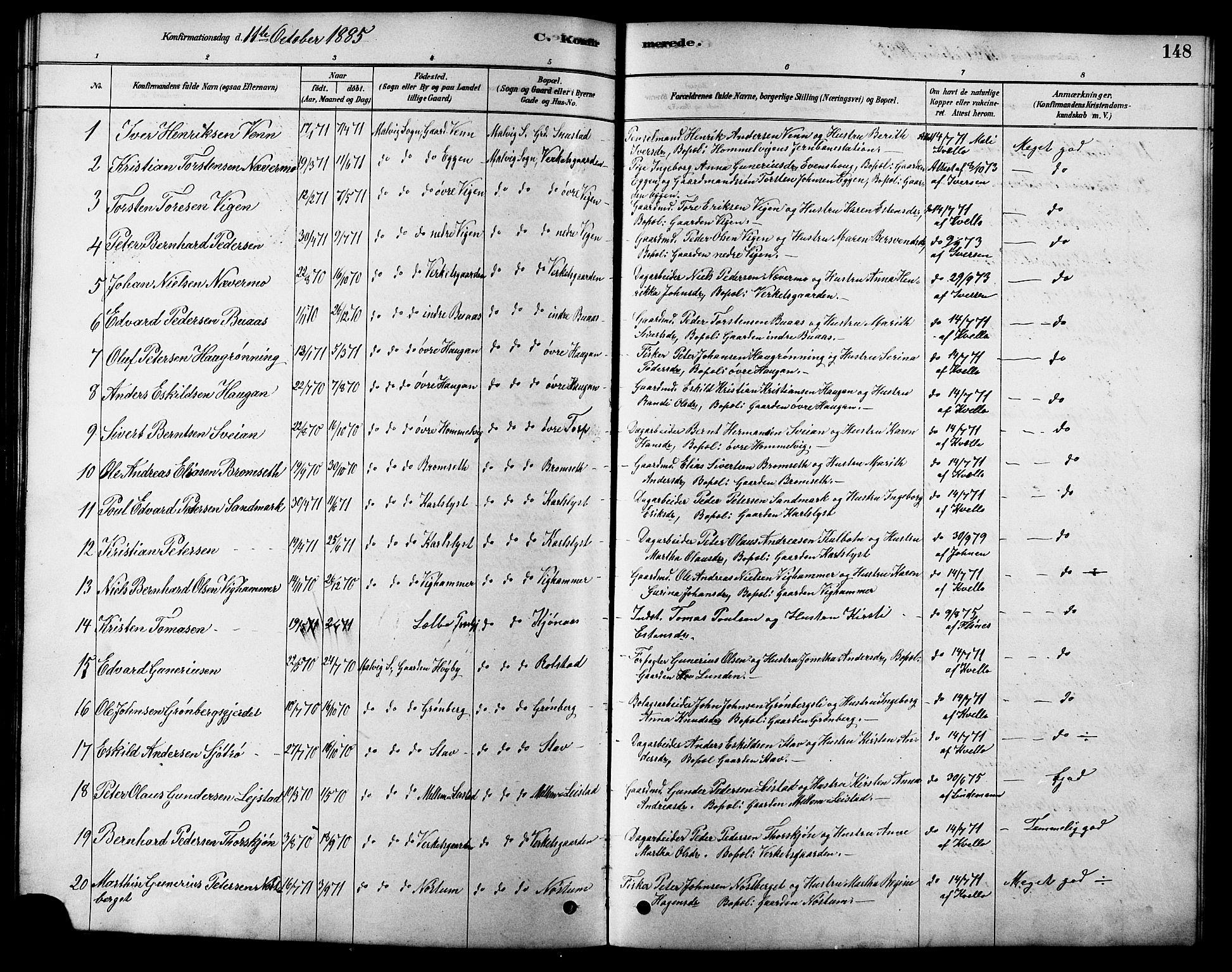 SAT, Ministerialprotokoller, klokkerbøker og fødselsregistre - Sør-Trøndelag, 616/L0423: Klokkerbok nr. 616C06, 1878-1903, s. 148