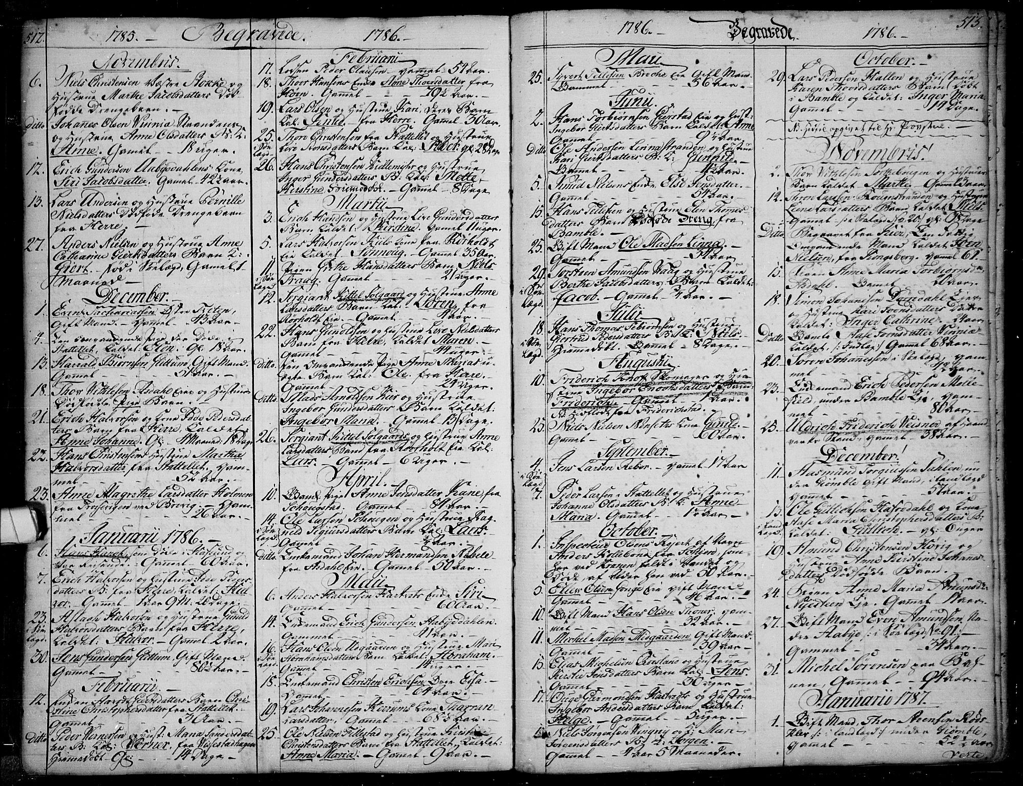 SAKO, Bamble kirkebøker, F/Fa/L0002: Ministerialbok nr. I 2, 1775-1814, s. 512-513