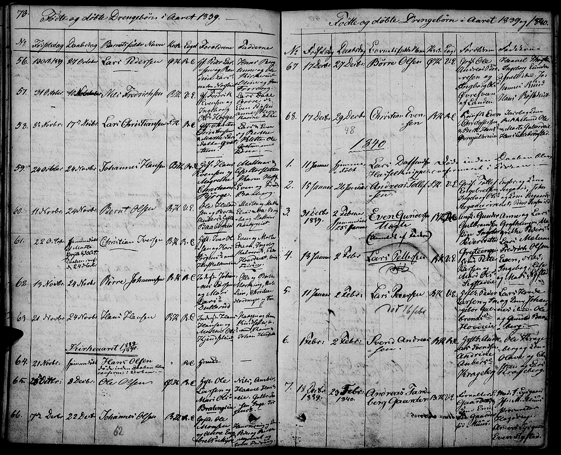 SAH, Biri prestekontor, Ministerialbok nr. 4, 1829-1842, s. 73