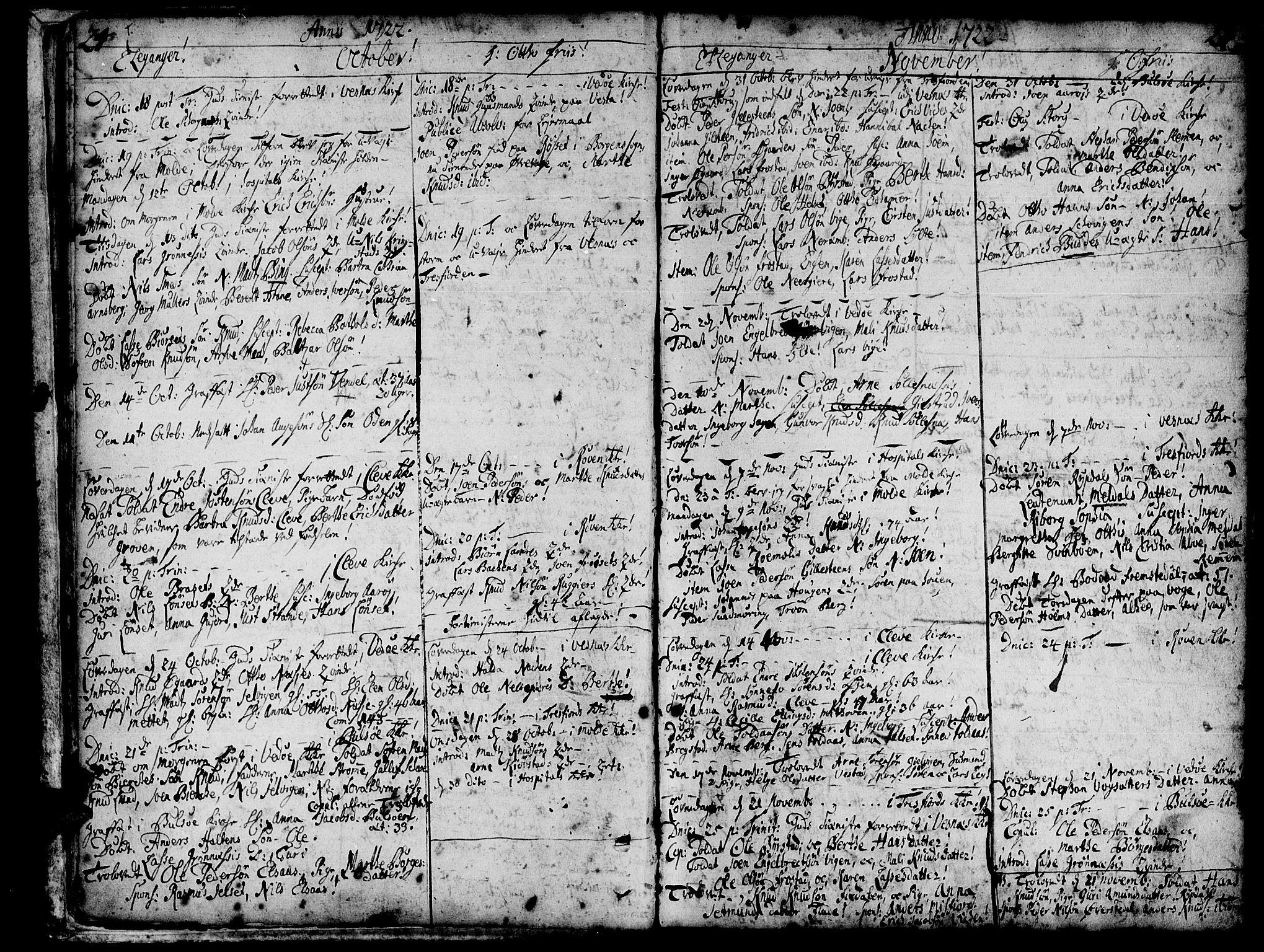 SAT, Ministerialprotokoller, klokkerbøker og fødselsregistre - Møre og Romsdal, 547/L0599: Ministerialbok nr. 547A01, 1721-1764, s. 24-25