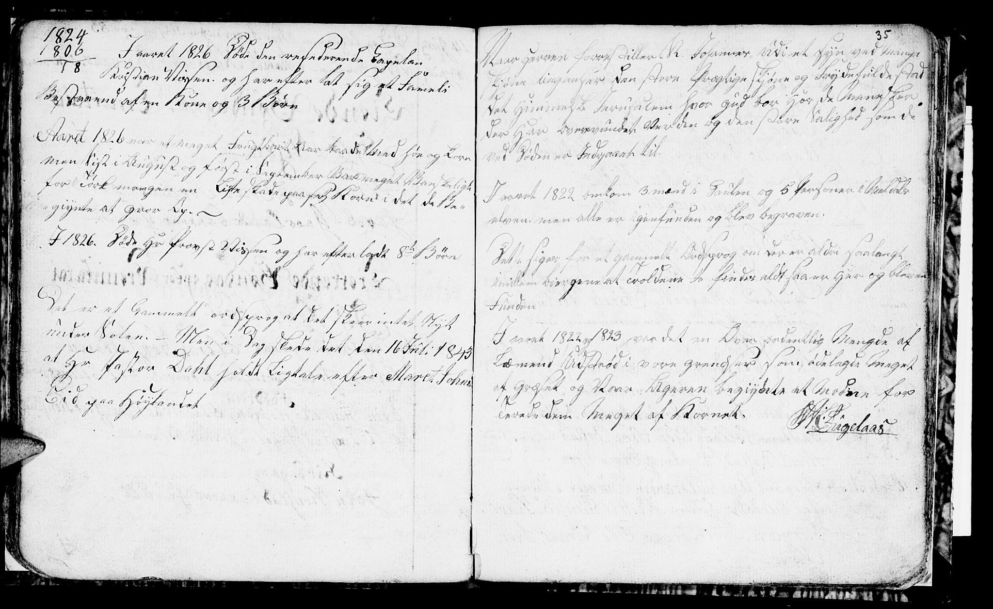 SAT, Ministerialprotokoller, klokkerbøker og fødselsregistre - Sør-Trøndelag, 694/L1129: Klokkerbok nr. 694C01, 1793-1815, s. 35