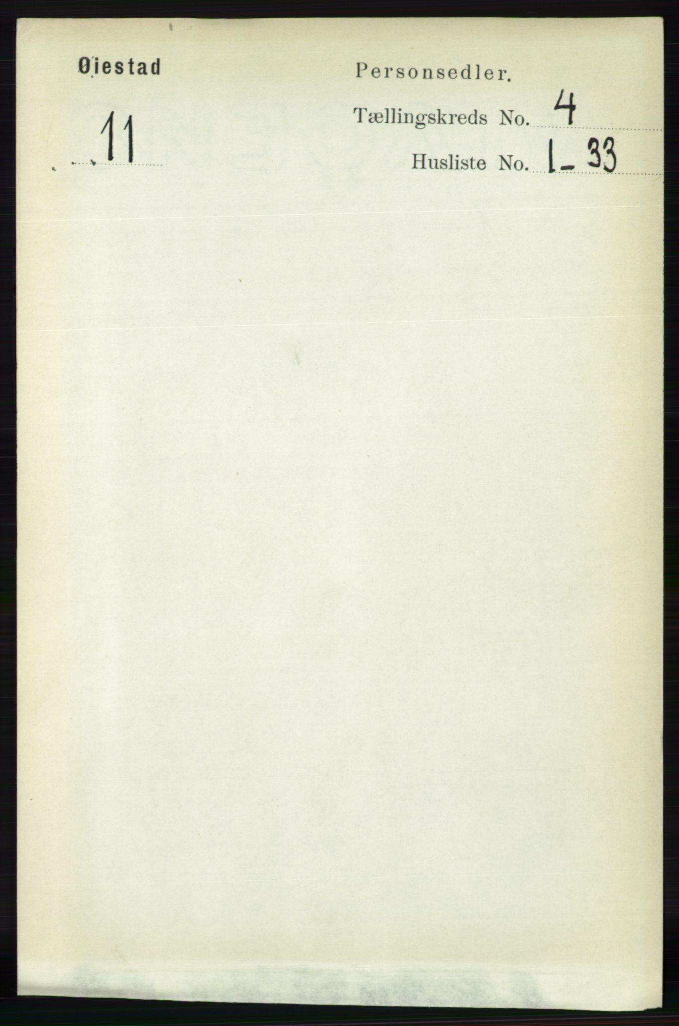RA, Folketelling 1891 for 0920 Øyestad herred, 1891, s. 1391
