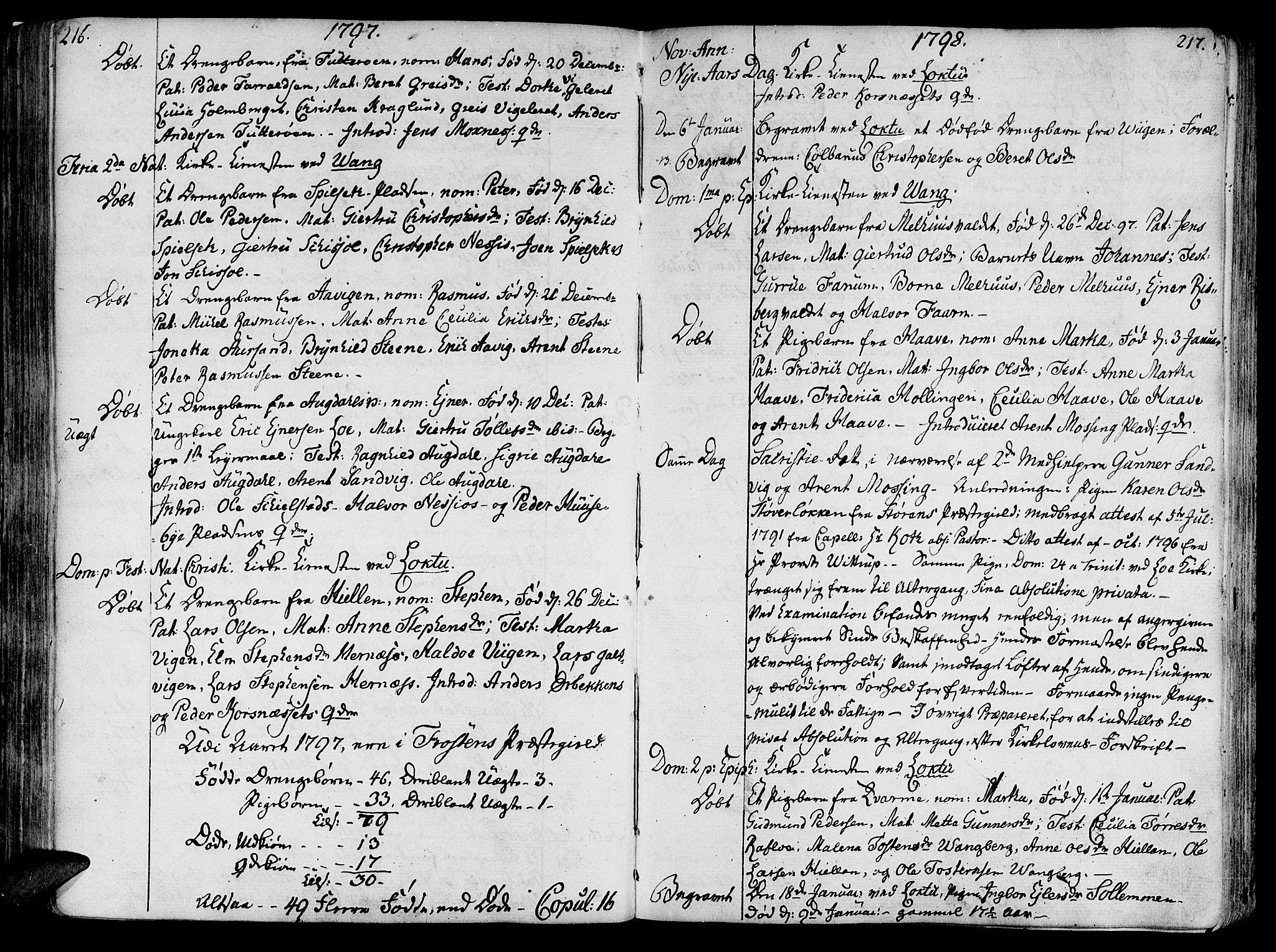 SAT, Ministerialprotokoller, klokkerbøker og fødselsregistre - Nord-Trøndelag, 713/L0110: Ministerialbok nr. 713A02, 1778-1811, s. 216-217