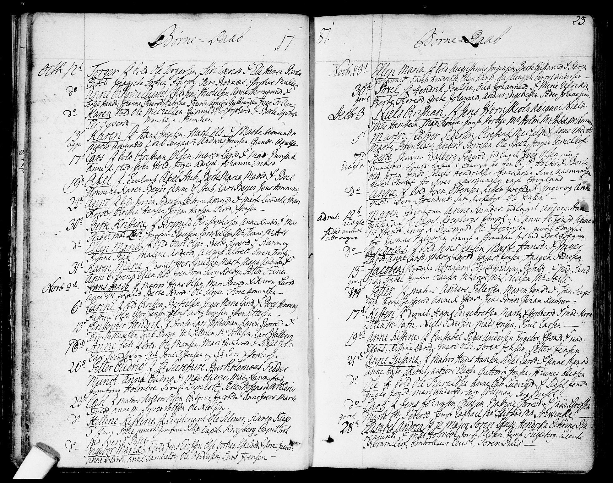 SAO, Garnisonsmenigheten Kirkebøker, F/Fa/L0003: Ministerialbok nr. 3, 1777-1809, s. 23