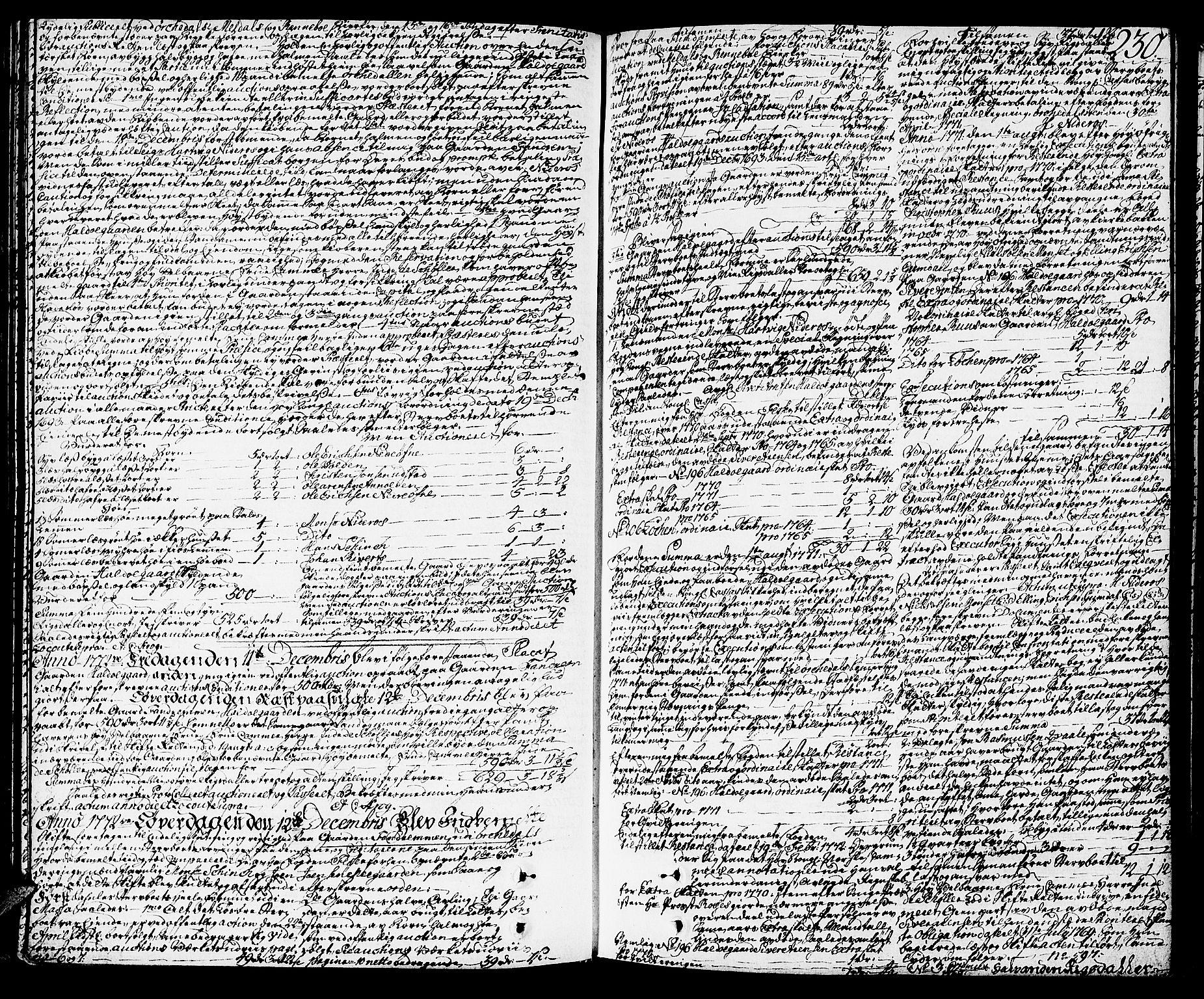 SAT, Orkdal sorenskriveri, 3/3Aa/L0007: Skifteprotokoller, 1767-1782, s. 229b-230a