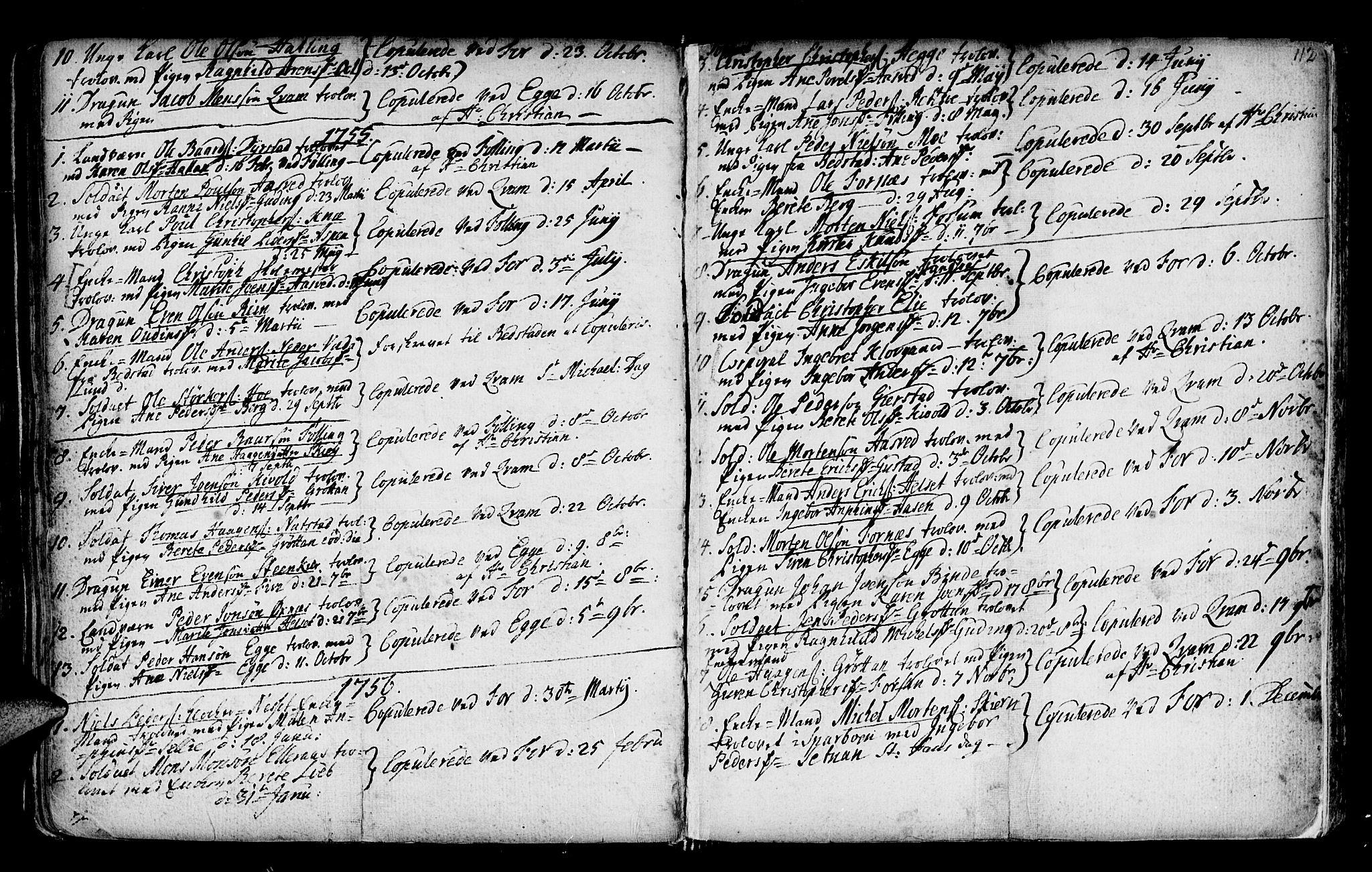 SAT, Ministerialprotokoller, klokkerbøker og fødselsregistre - Nord-Trøndelag, 746/L0439: Ministerialbok nr. 746A01, 1688-1759, s. 112