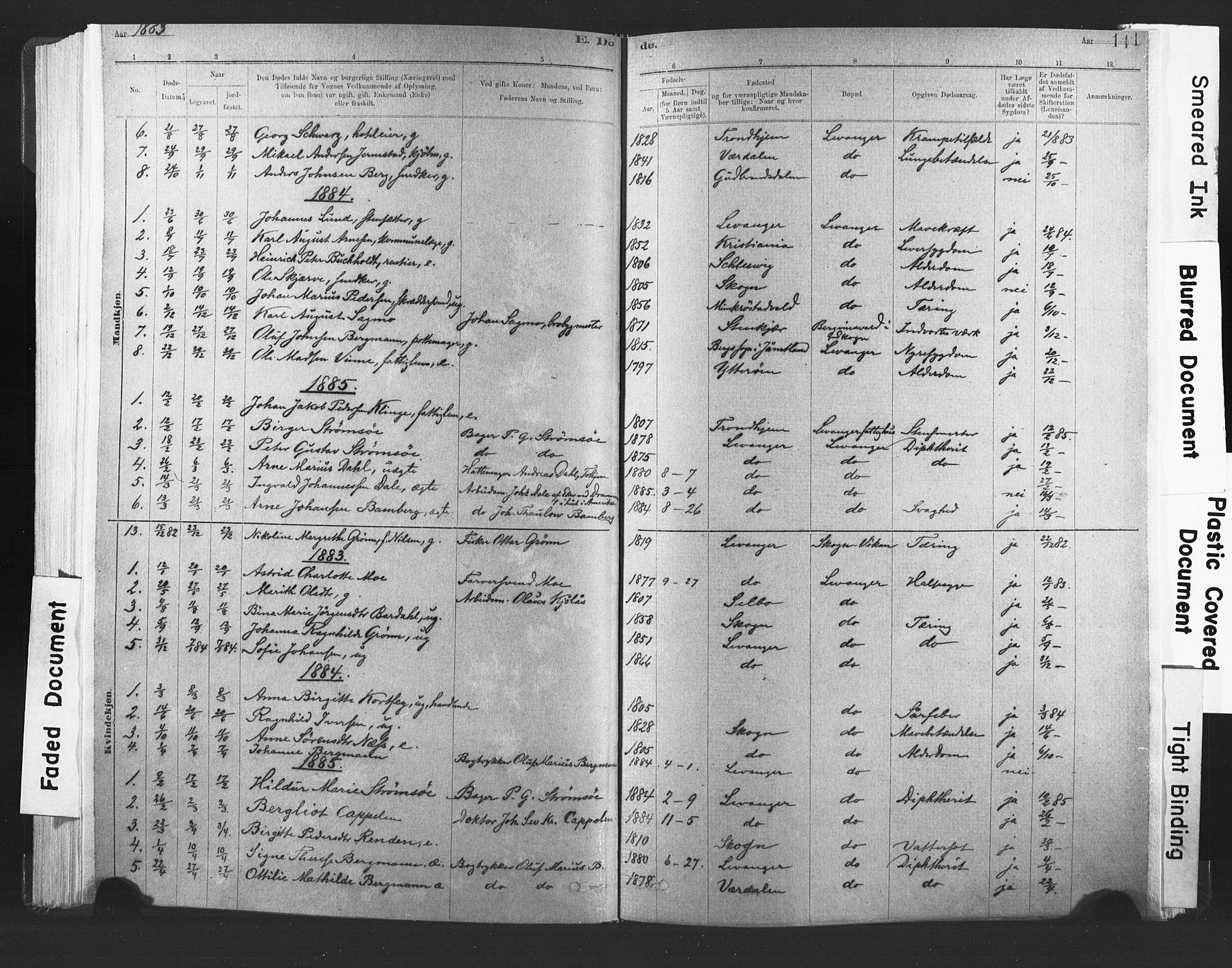 SAT, Ministerialprotokoller, klokkerbøker og fødselsregistre - Nord-Trøndelag, 720/L0189: Ministerialbok nr. 720A05, 1880-1911, s. 111