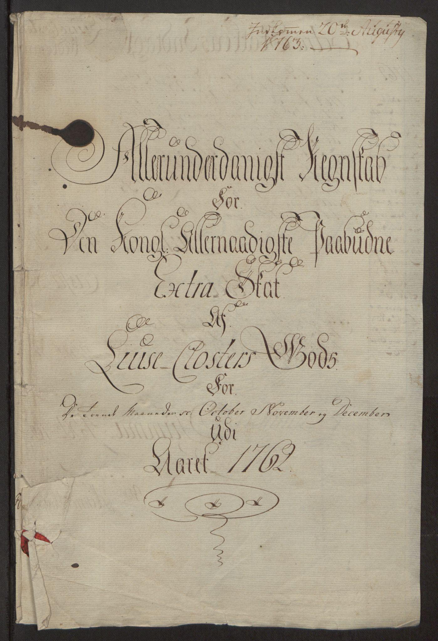 RA, Rentekammeret inntil 1814, Reviderte regnskaper, Fogderegnskap, R50/L3180: Ekstraskatten Lyse kloster, 1762-1783, s. 3