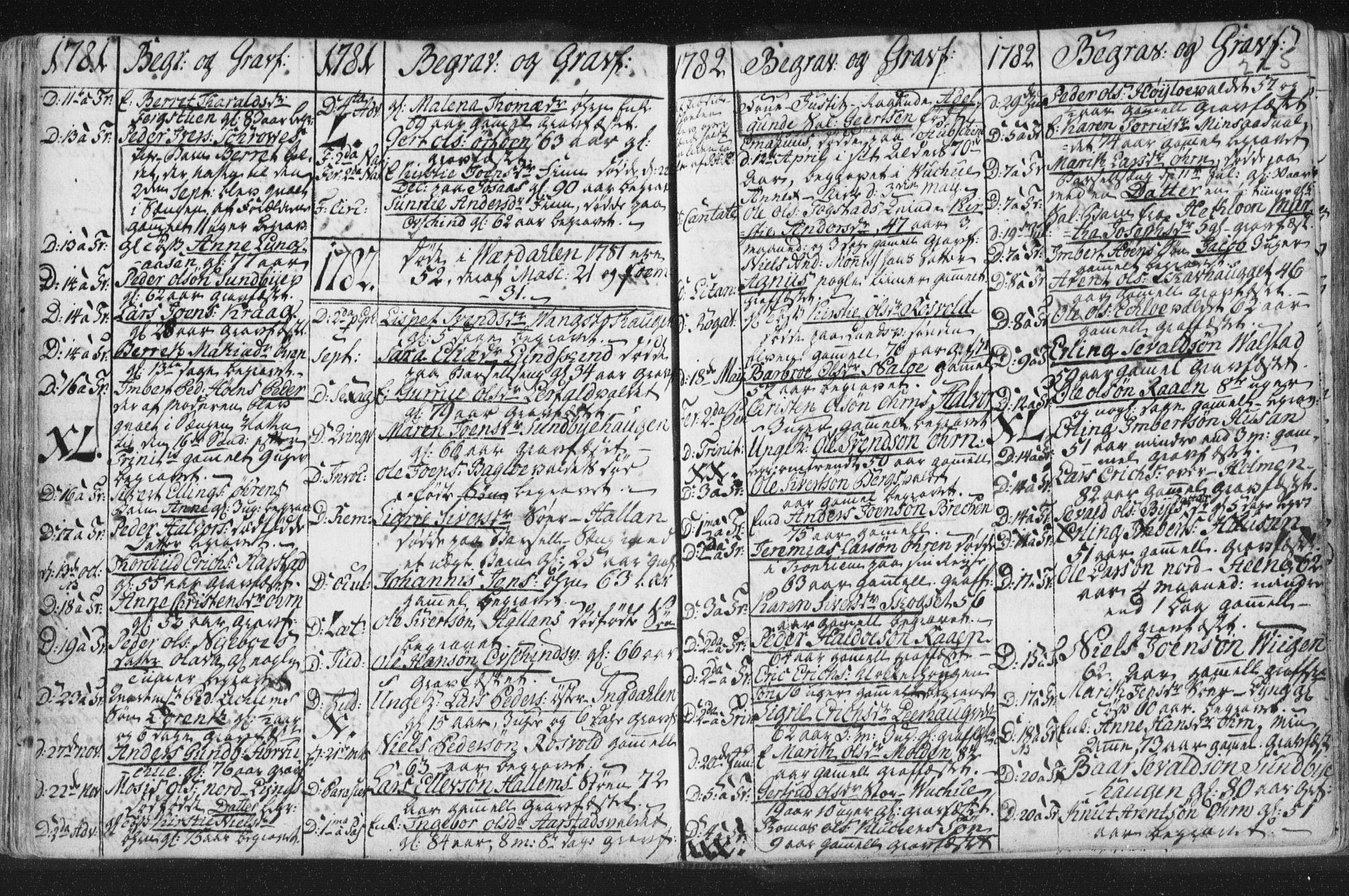 SAT, Ministerialprotokoller, klokkerbøker og fødselsregistre - Nord-Trøndelag, 723/L0232: Ministerialbok nr. 723A03, 1781-1804, s. 225