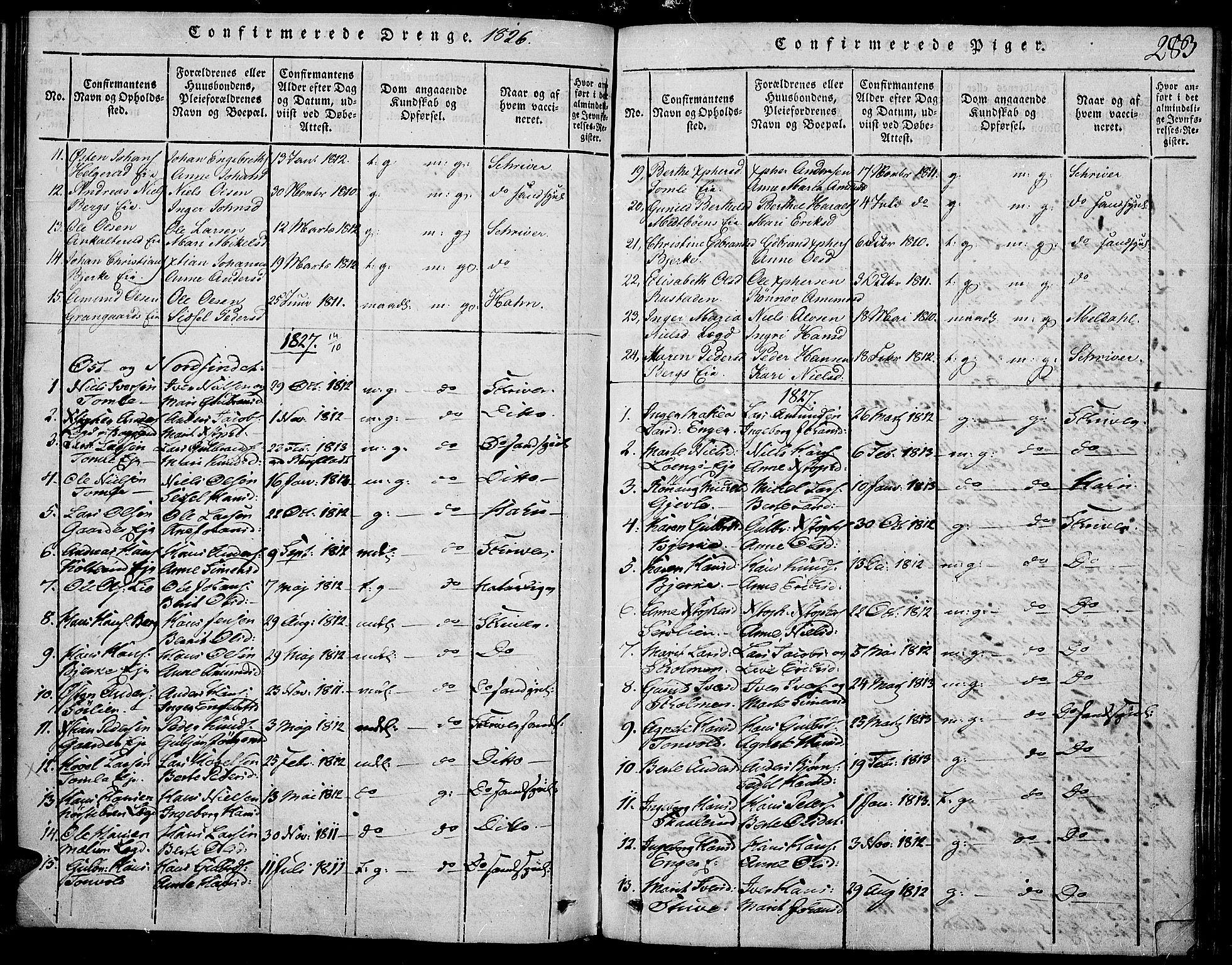 SAH, Land prestekontor, Ministerialbok nr. 7, 1814-1830, s. 283