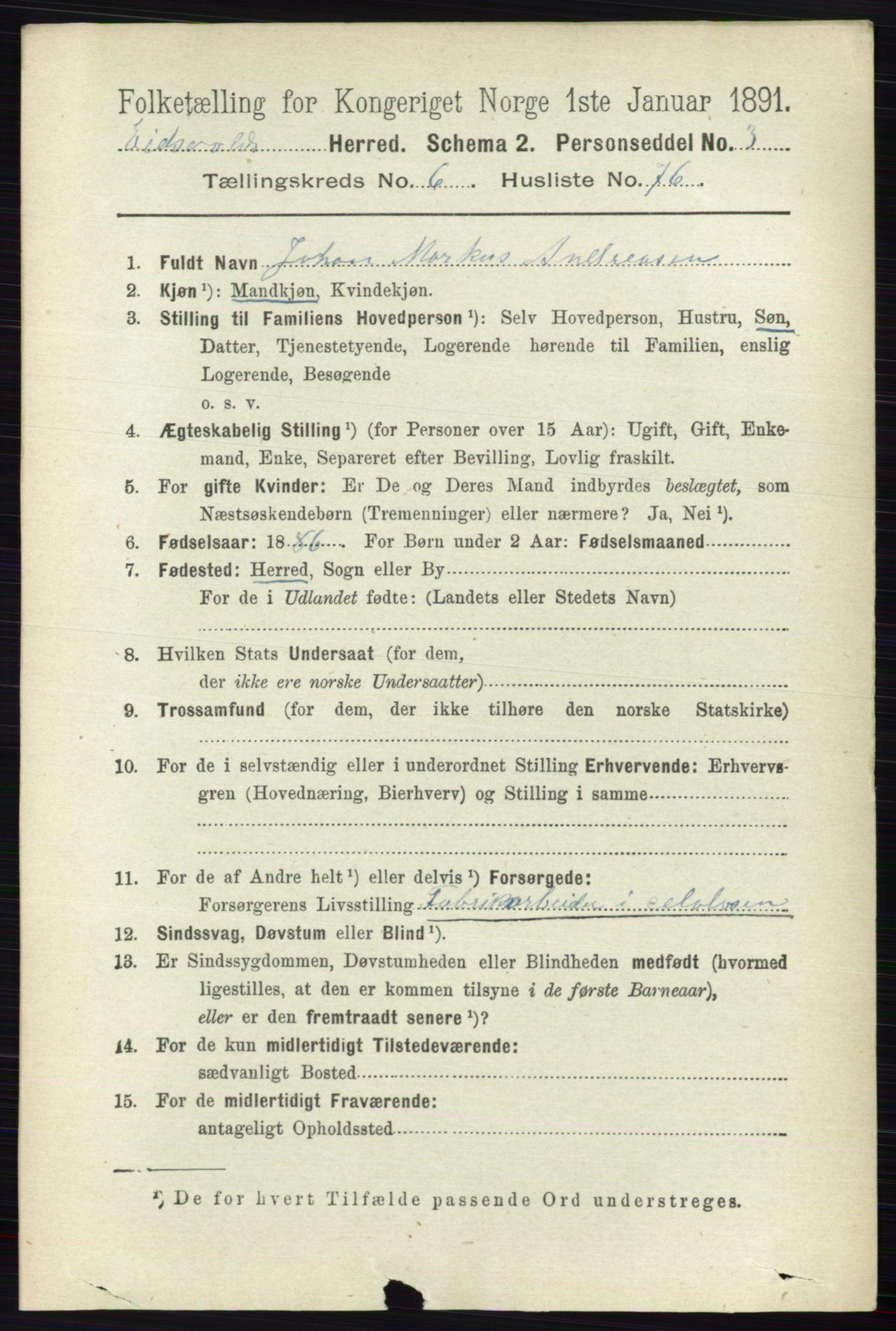 RA, Folketelling 1891 for 0237 Eidsvoll herred, 1891, s. 4226