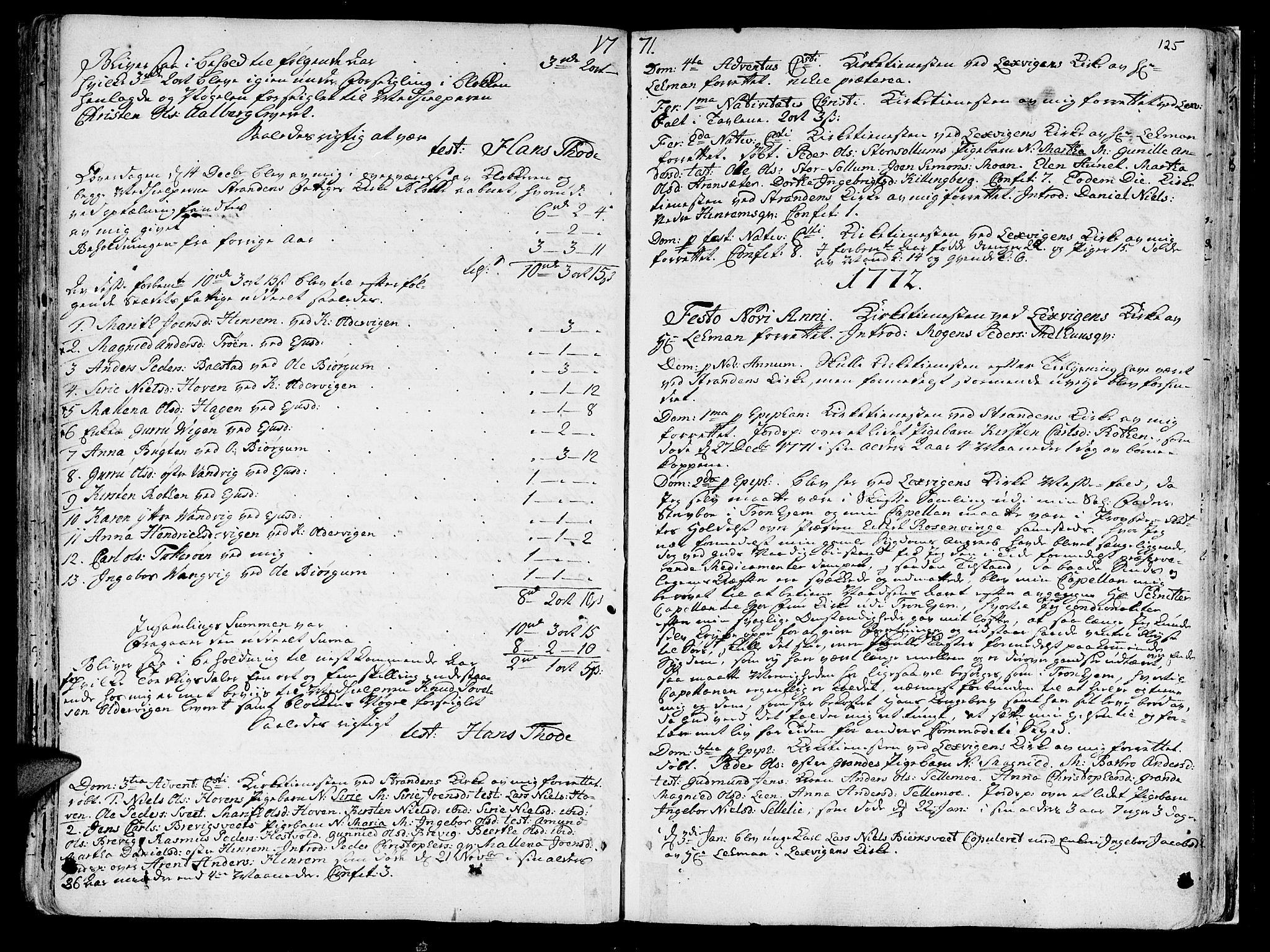 SAT, Ministerialprotokoller, klokkerbøker og fødselsregistre - Nord-Trøndelag, 701/L0003: Ministerialbok nr. 701A03, 1751-1783, s. 125