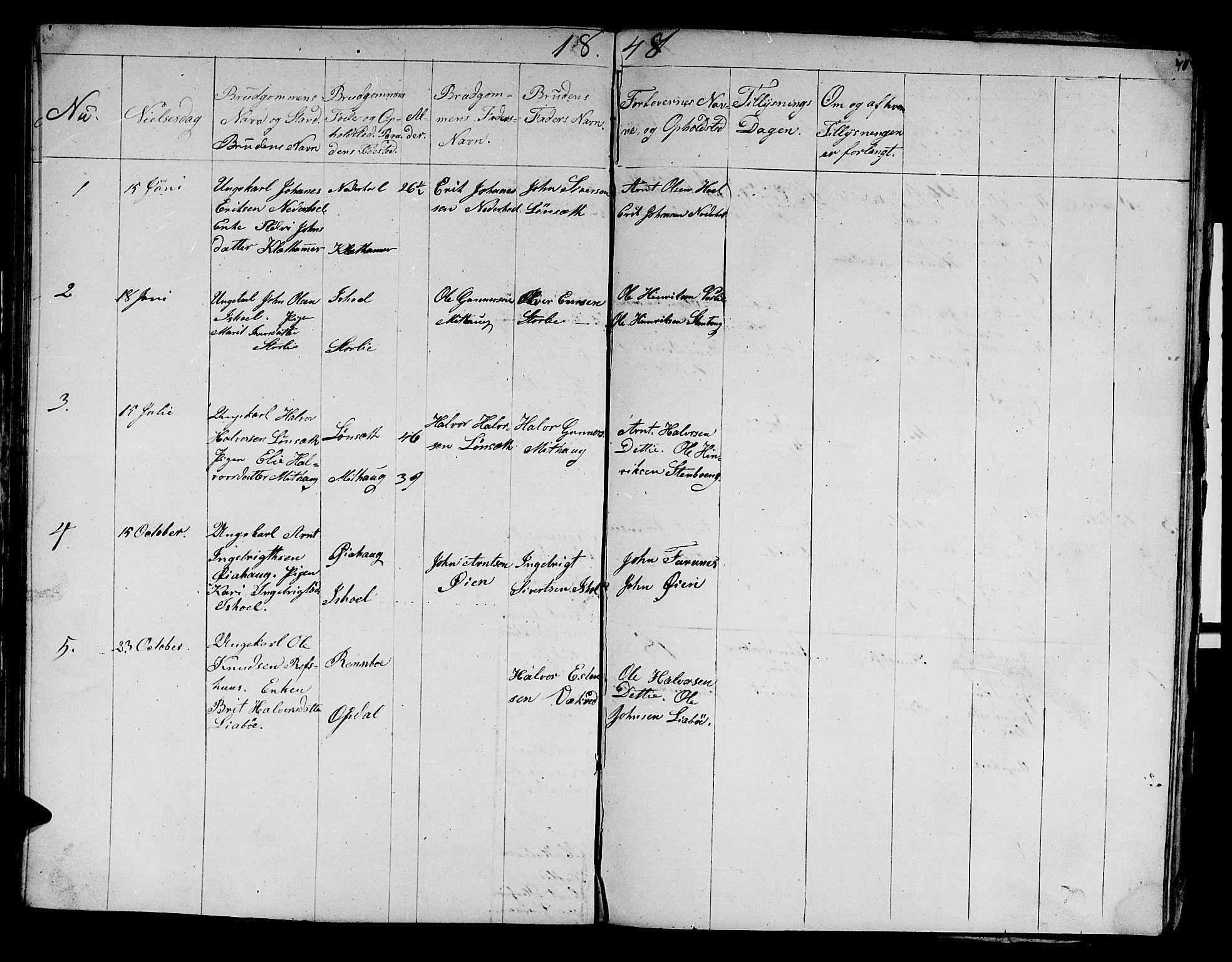 SAT, Ministerialprotokoller, klokkerbøker og fødselsregistre - Sør-Trøndelag, 679/L0922: Klokkerbok nr. 679C02, 1845-1851, s. 71